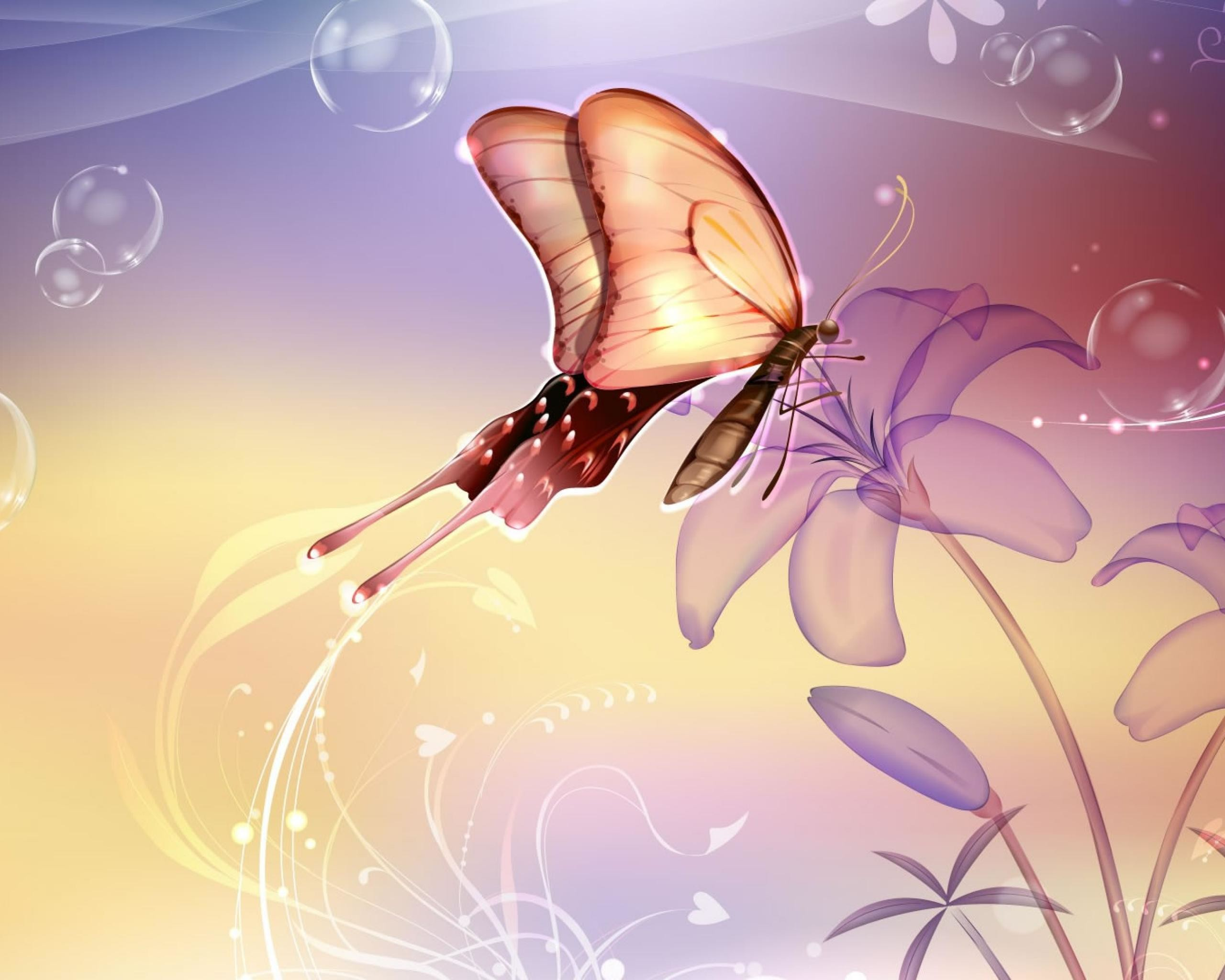 Butterfly-Nature-Mexico-Abstract-Flowers-Lavender-Free-wallpaper-
