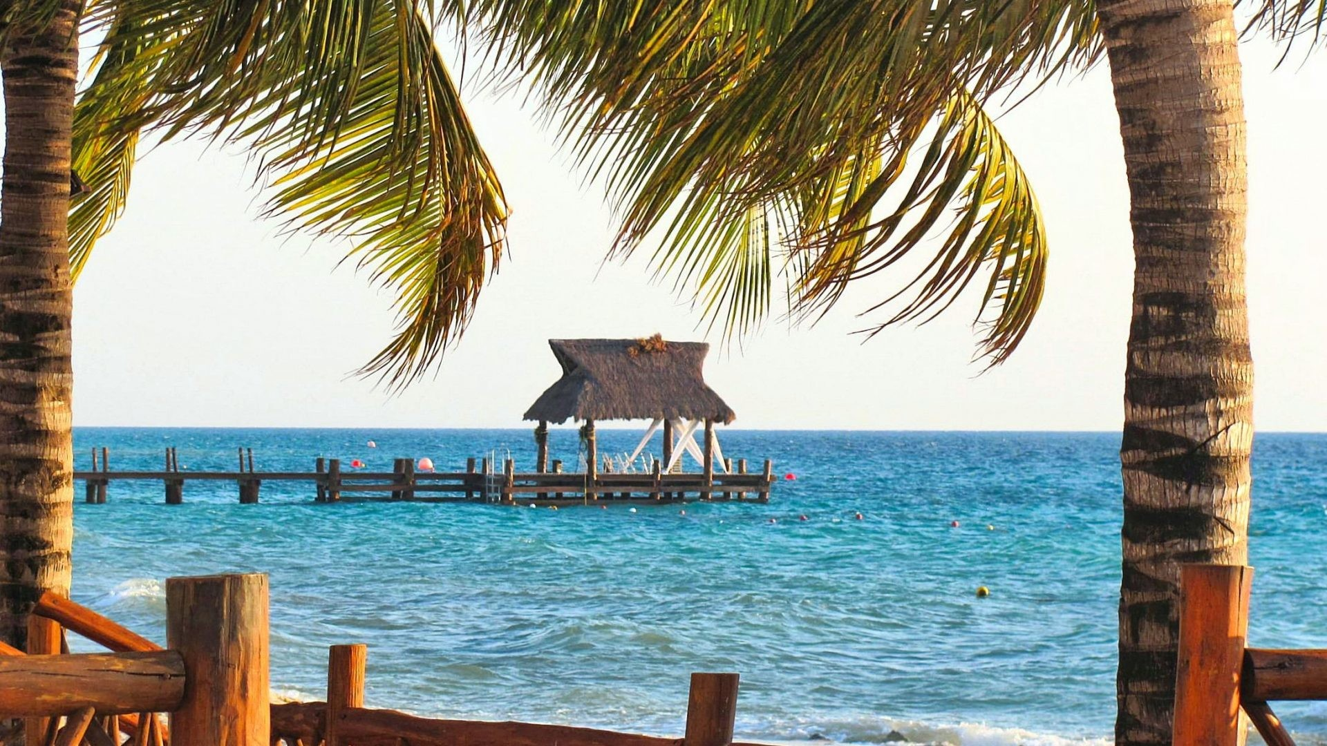 Mexico Tag – Beach Palm Ocean Pier Blue Relaxation Trees Bar View Waves  Mexico Cozumel Nature