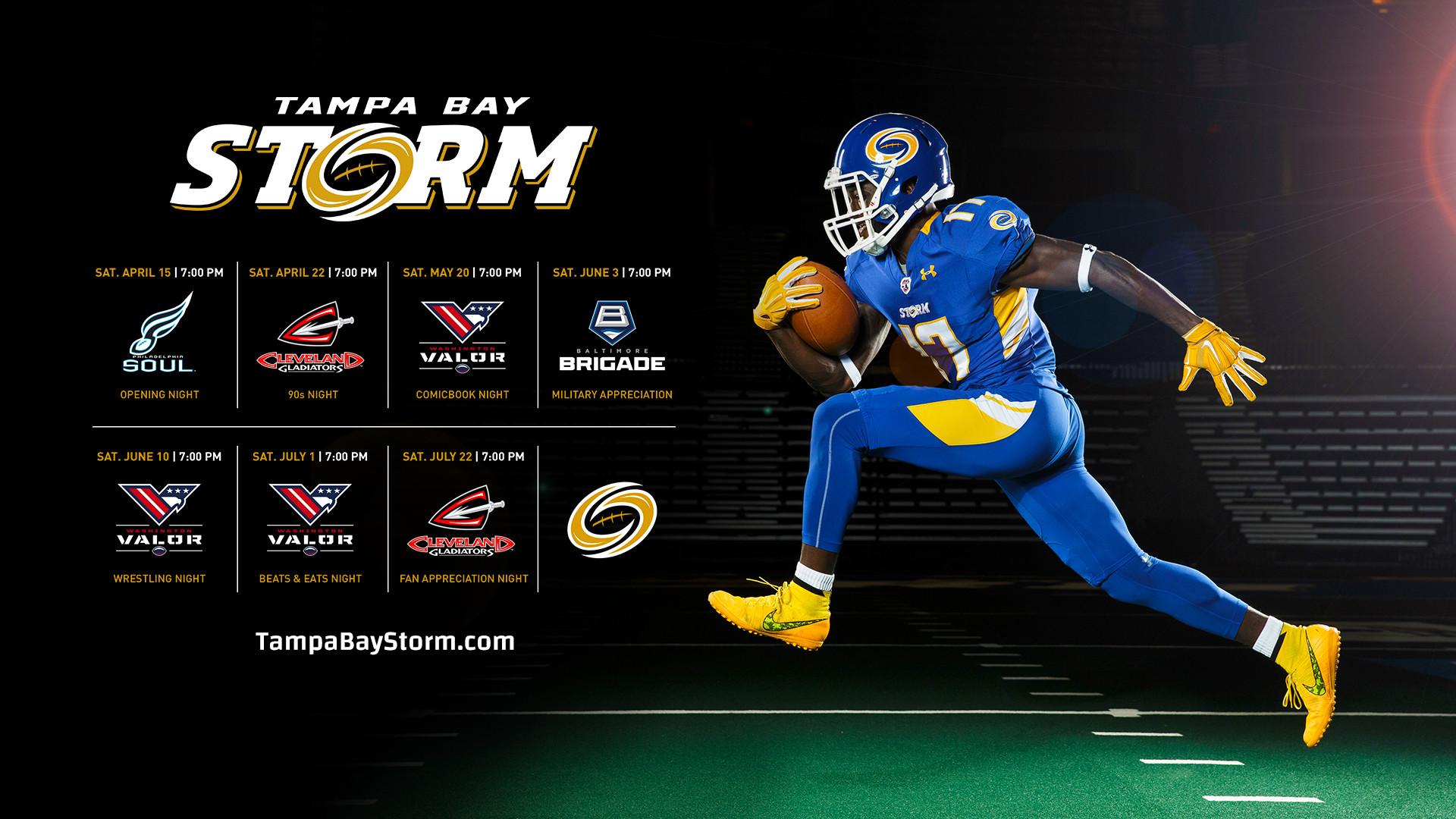 2017 Tampa Bay Storm Wallpaper