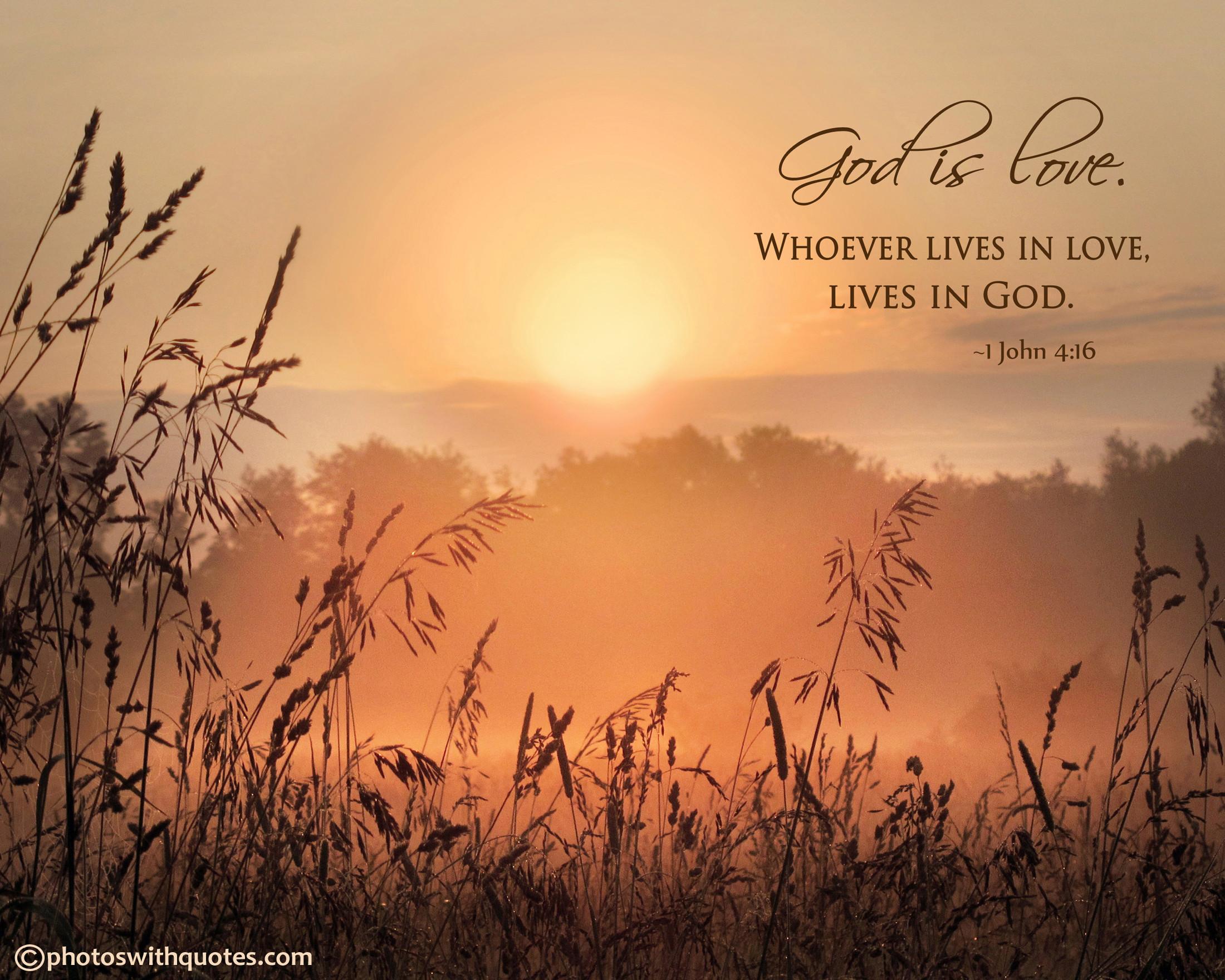 """God is love"" – Free 1600×1200 Wallpaper"