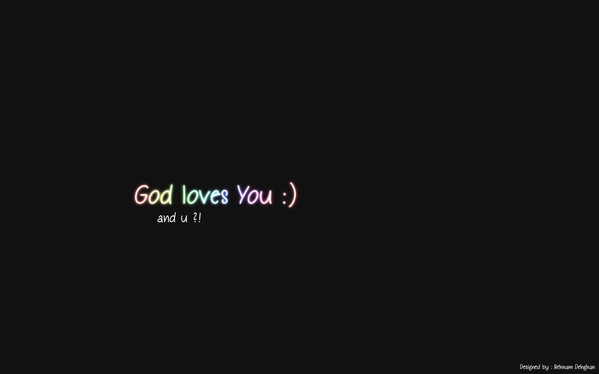 … God loves U – Colorful Text HD by i3ehnam
