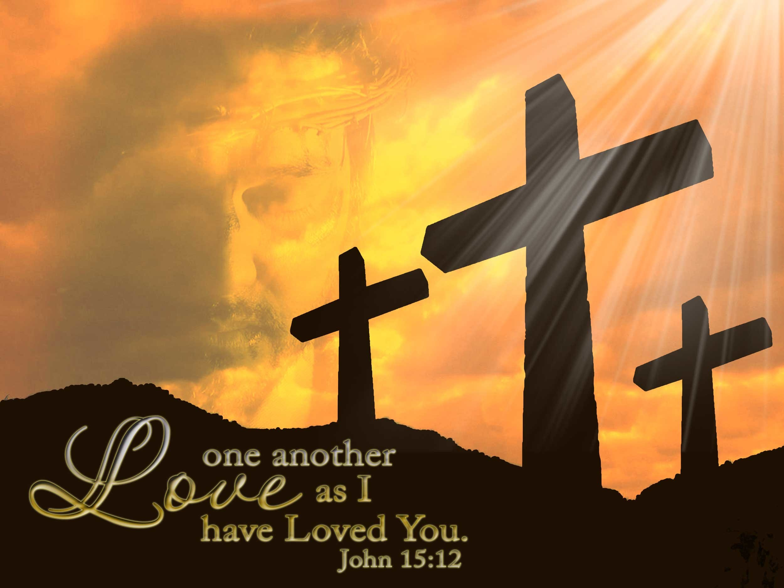 John 15:12 – Love one another Wallpaper – Christian Wallpapers and .