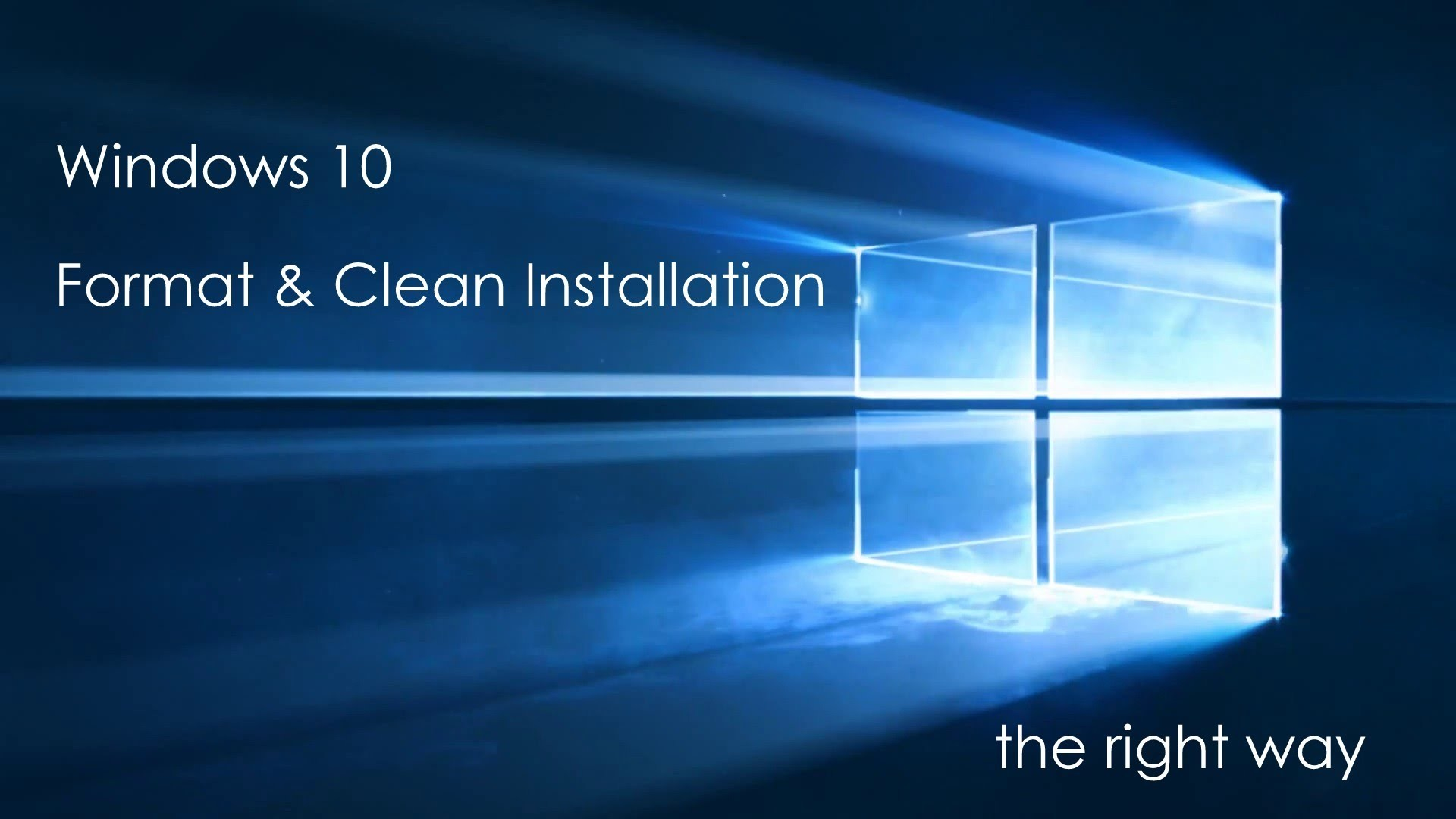 Free Upgrade to Windows 10 – Clean Install with Format Method – YouTube