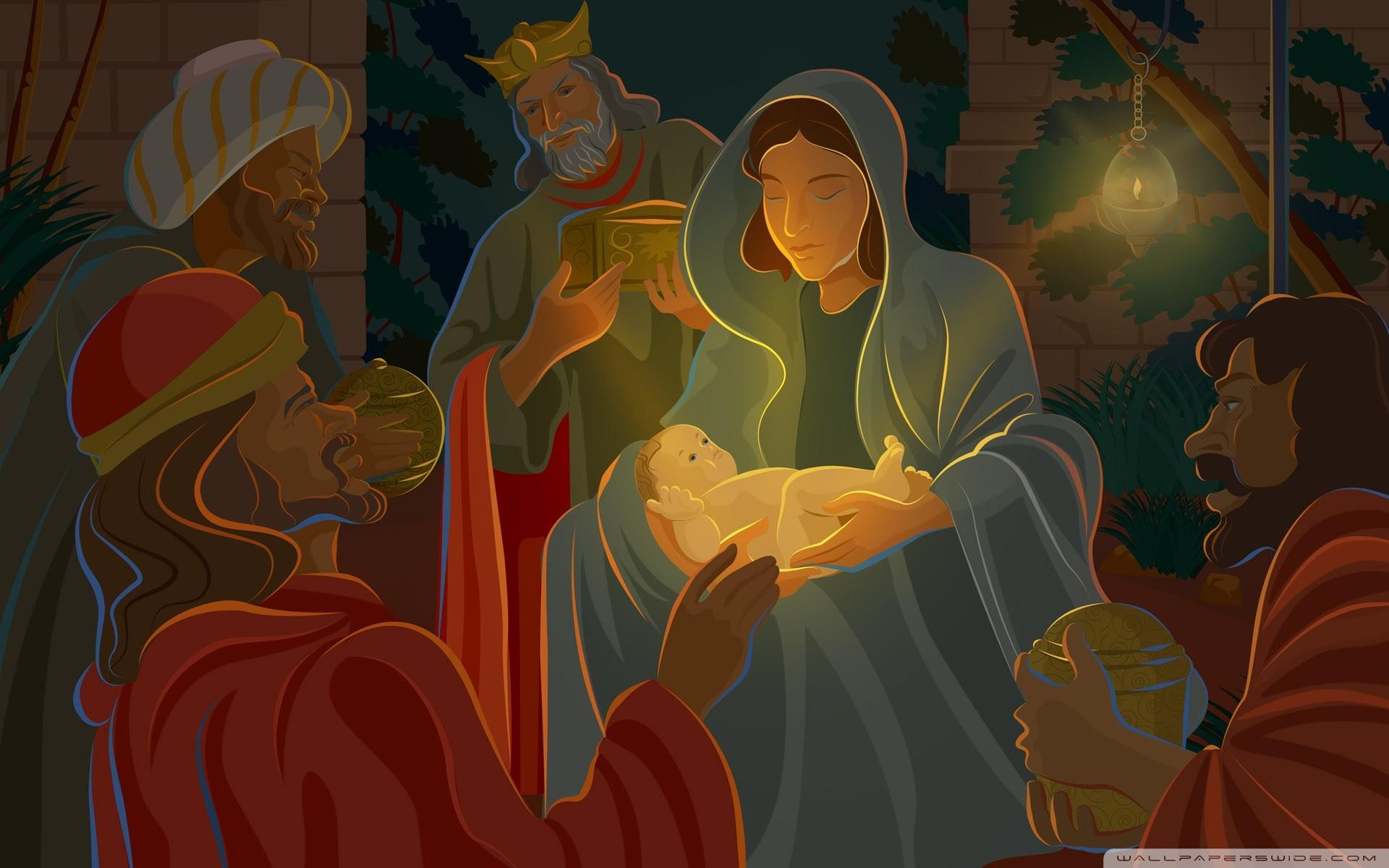 Festive Christmas CG – Digital Christmas illustration – Illustration – Nativity  scene – The Birth of Jesus 25