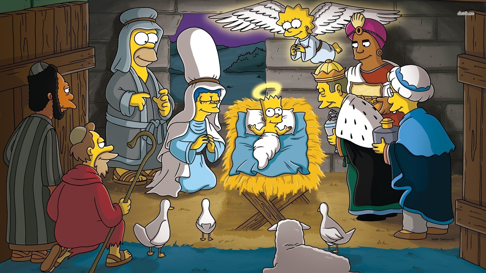 The Simpsons Nativity Scene Wallpaper …