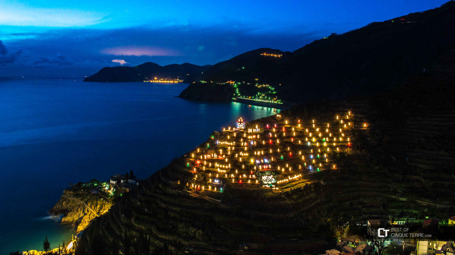Christmas nativity scene (Presepe), Manarola, Cinque Terre, Italy