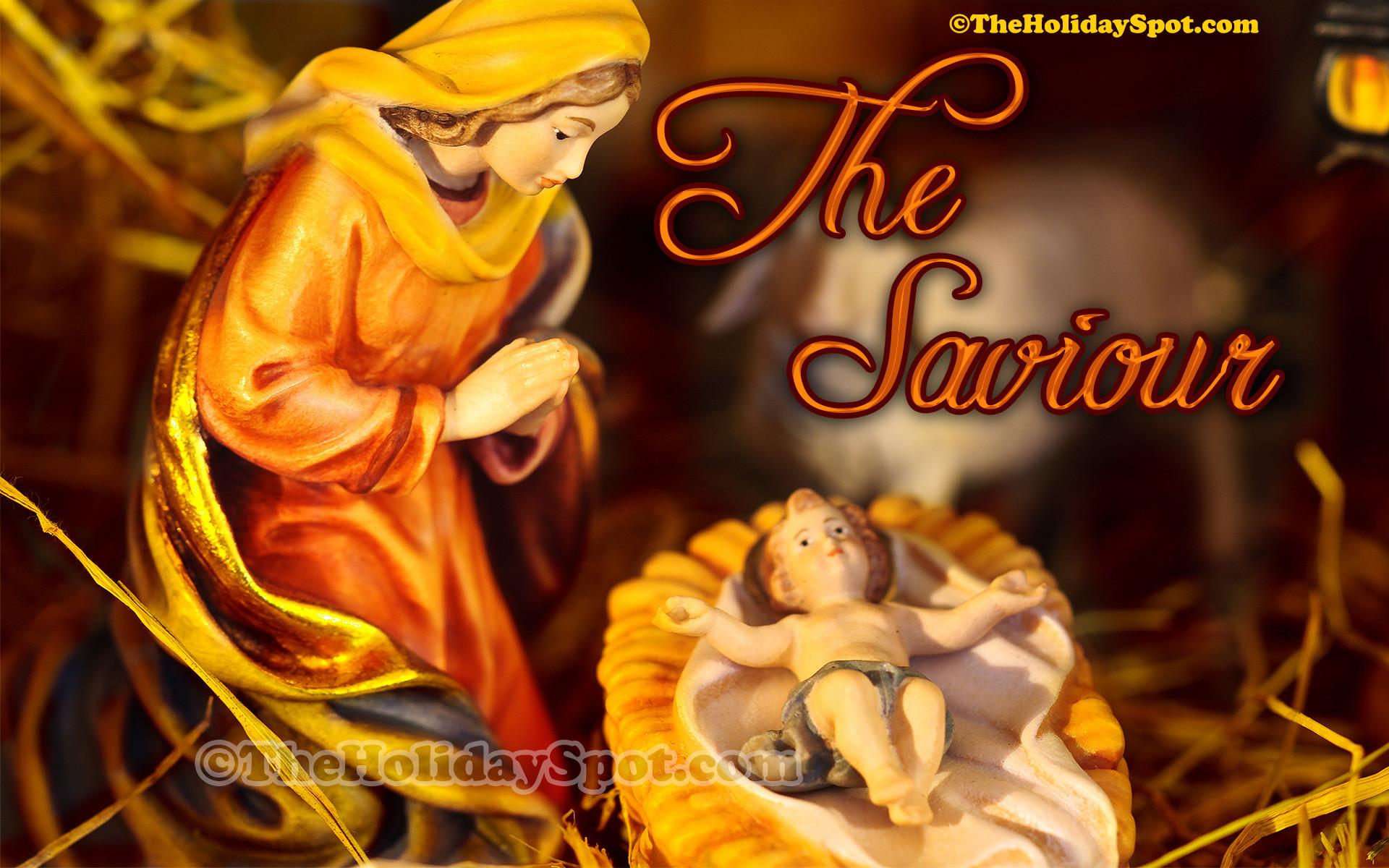 An elegant christmas wallpaper themed on birth of Christ.