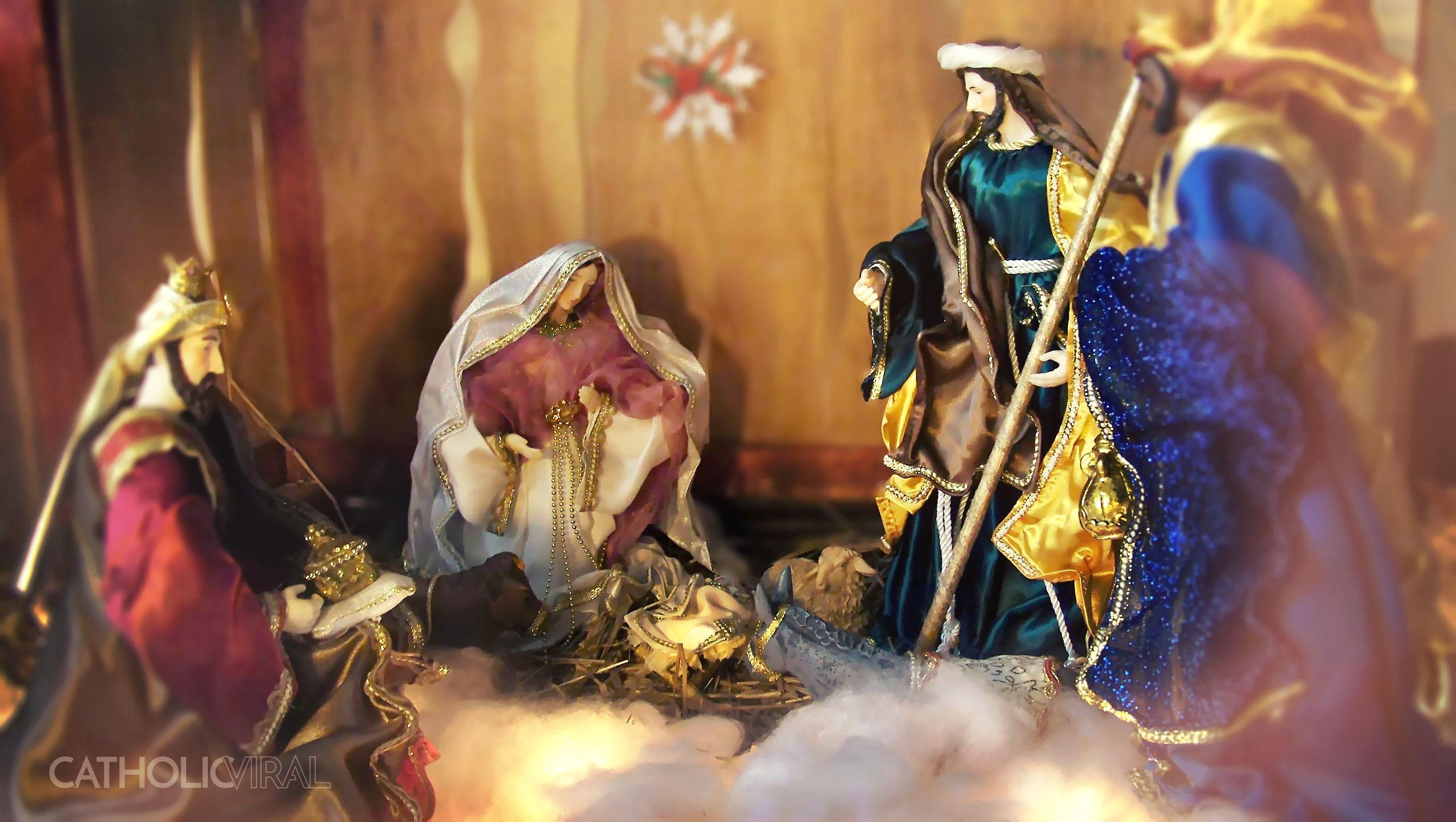 … Christmas Wallpapers – Nativity Creche Scene. Share!