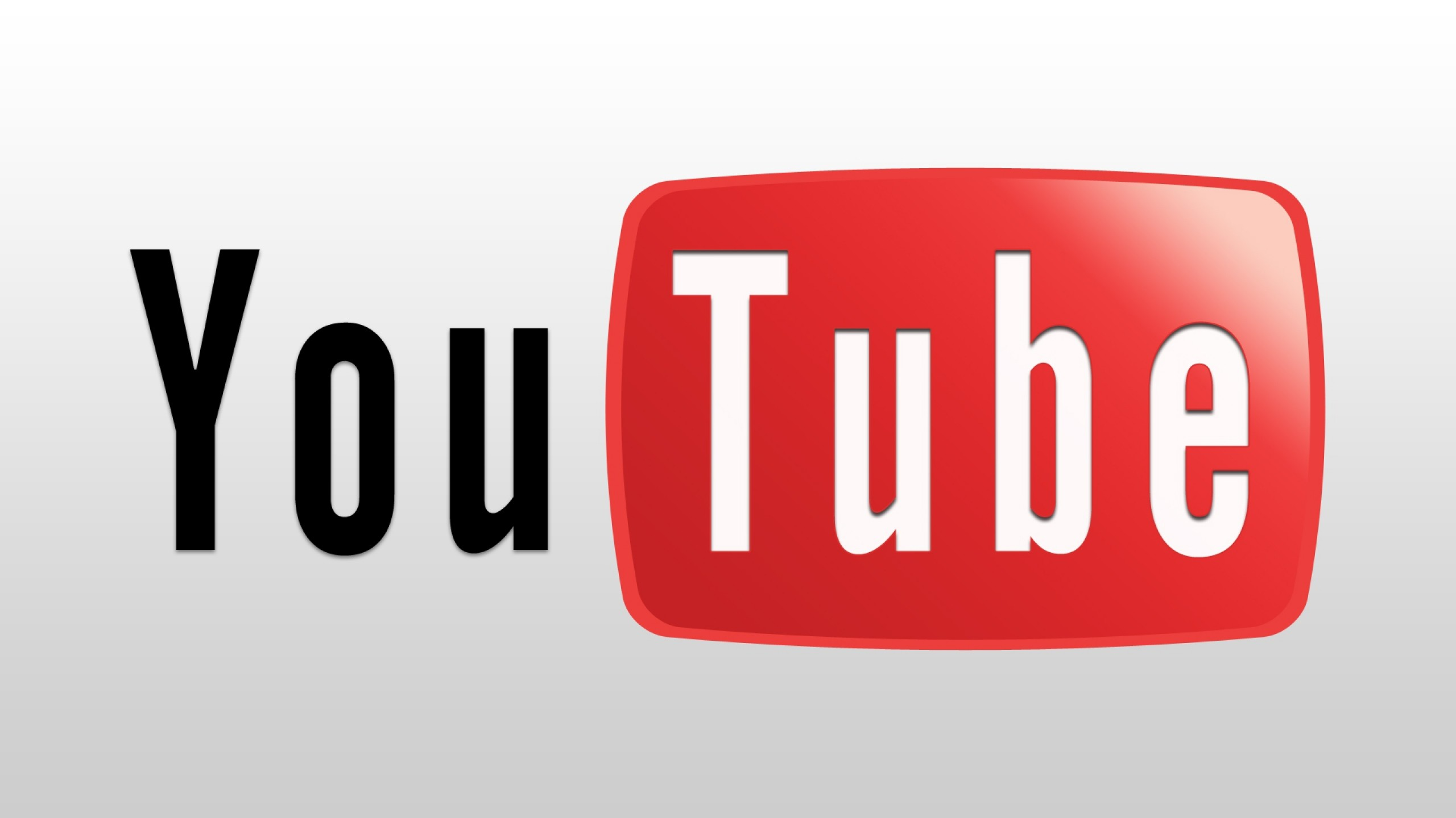 Preview wallpaper youtube, service, video, website, white, red 2560×1440