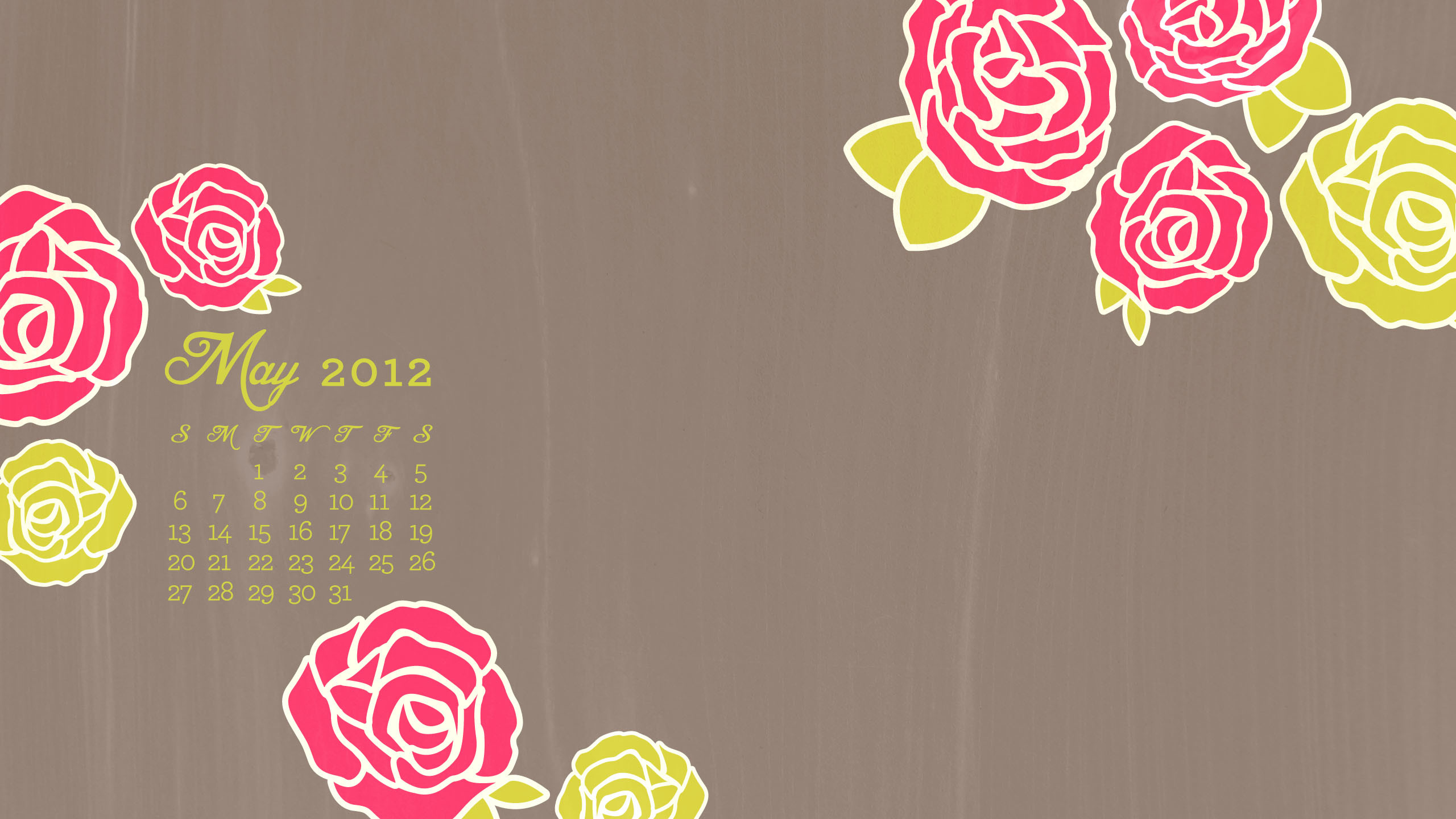 2560 x 1440 with calendar