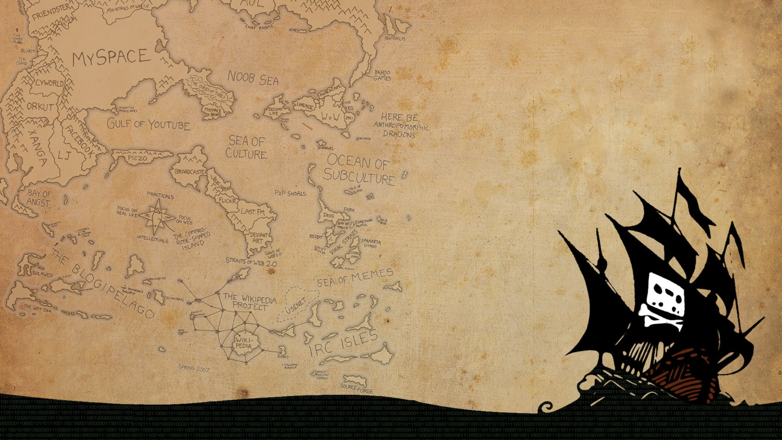 Wallpaper pirate bay, 2015, logo