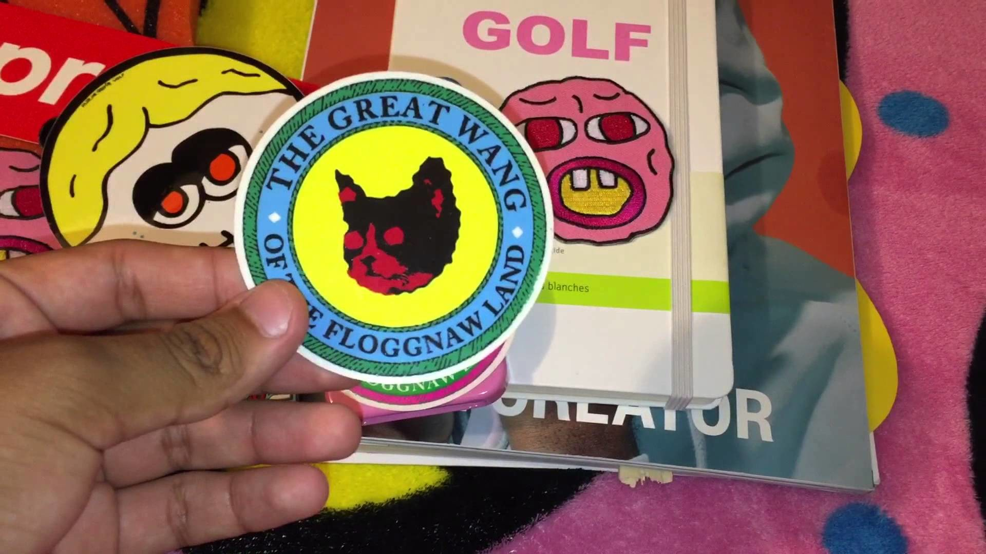 Golf Wang / Odd Future / Supreme Accessories And Sticker Collection –  YouTube