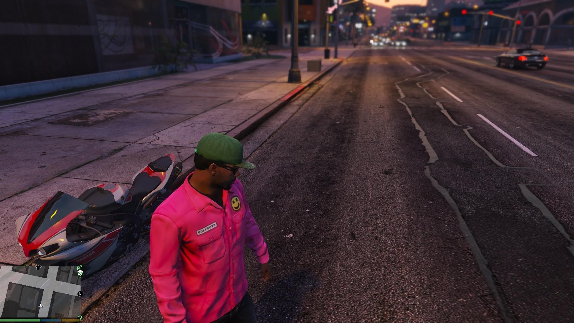 Bolf Goys Nylon Spring Slim Fit Jacket Pink (Golf Wang)