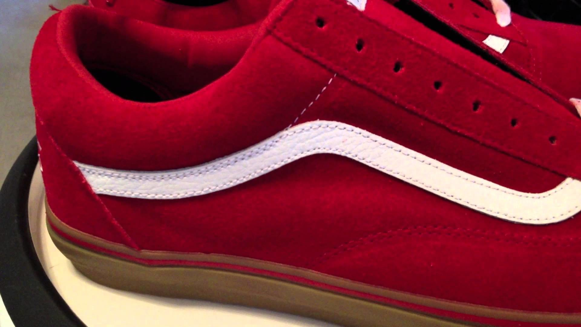 """Vans Syndicate Old Skool Pro """"S"""" – (Golf Wang) Red / Gum colorway – Odd  Future 6-12-13 – YouTube"""