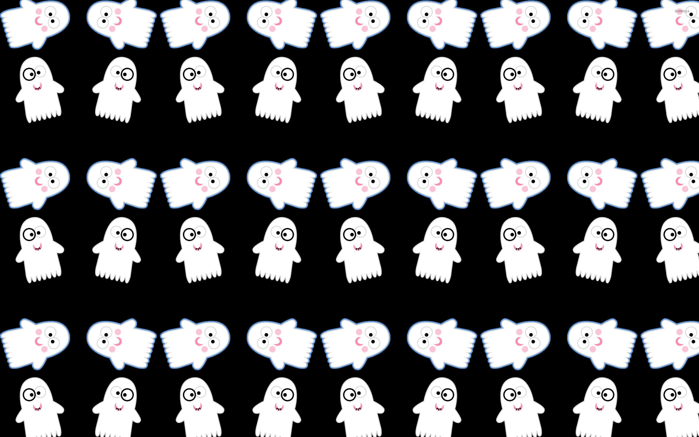 Cute ghost pattern wallpaper