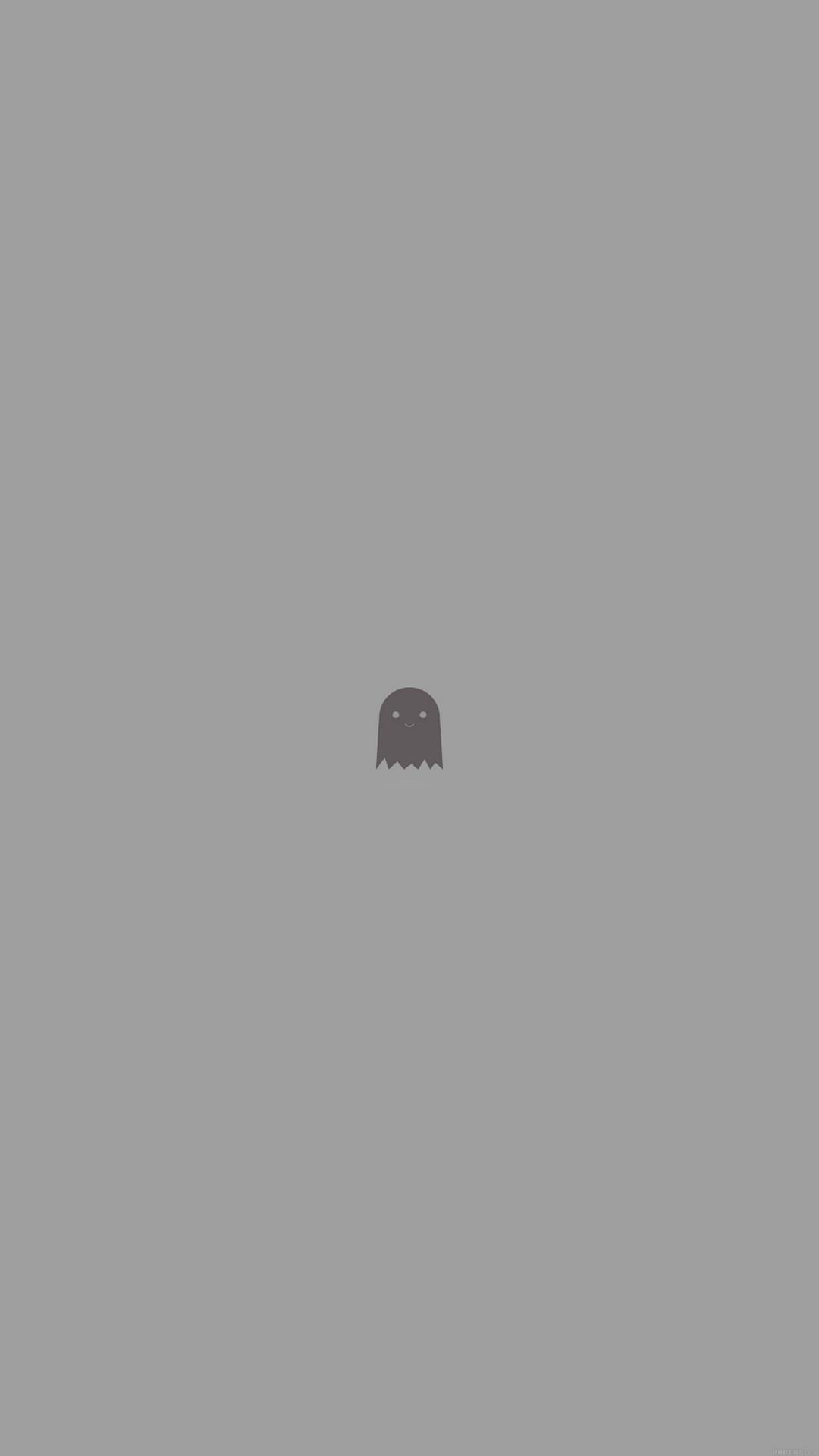 Cute Ghost Art Character Illust Minimal Simple #iPhone #6 #plus #wallpaper