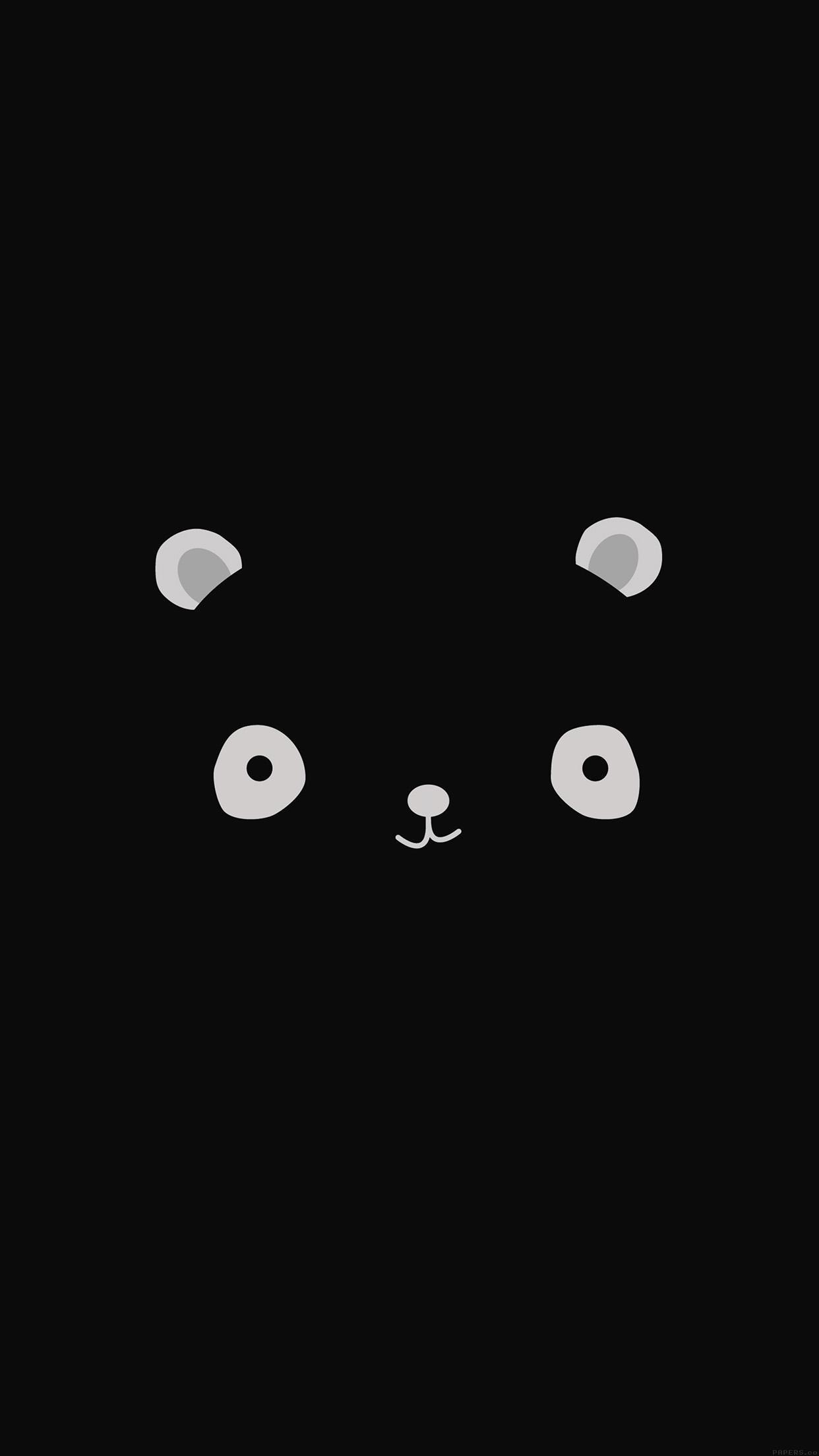 Cute Minimal Panda Dark Illust Art