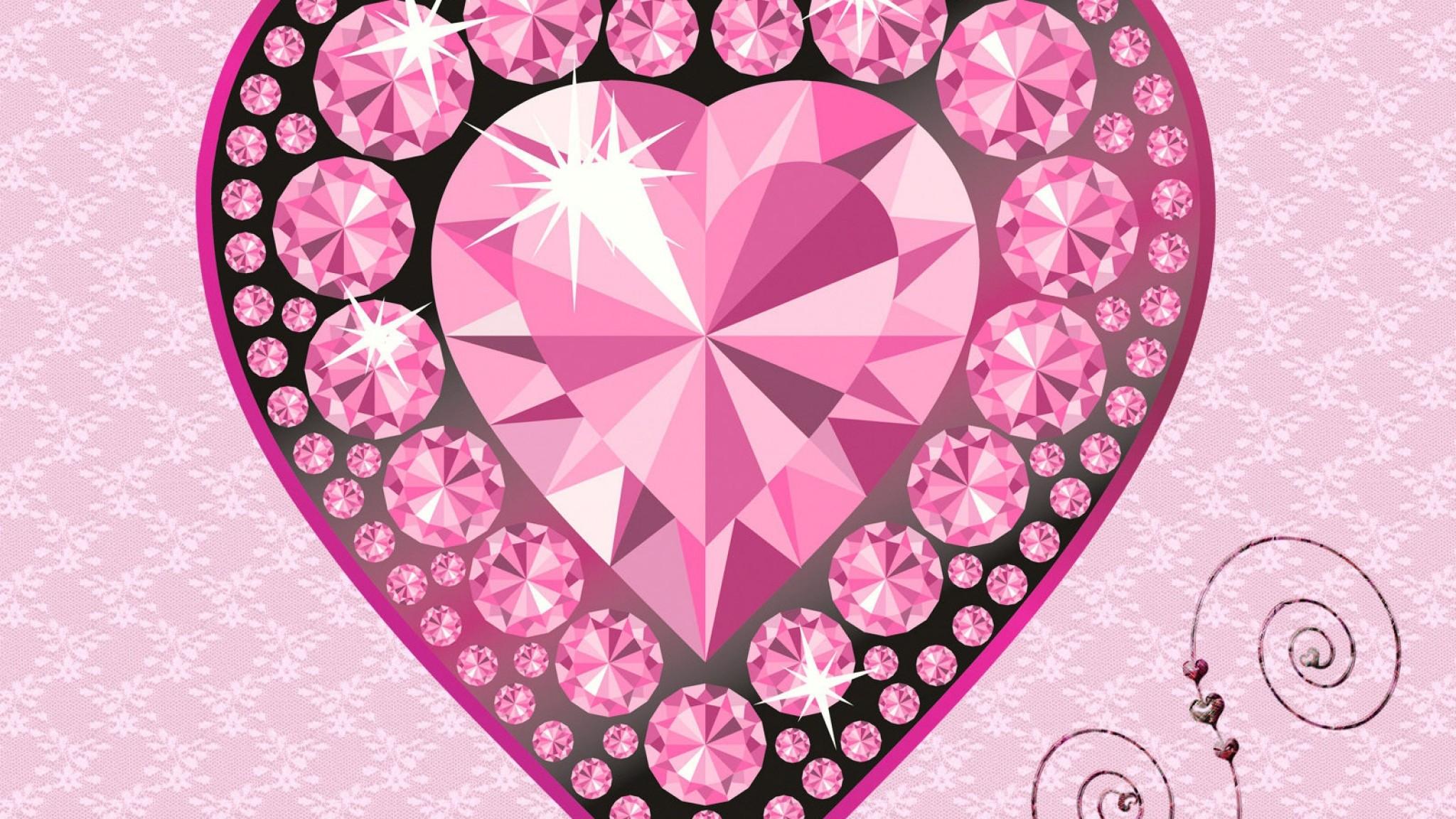 Pink Diamond Glitter Wallpaper