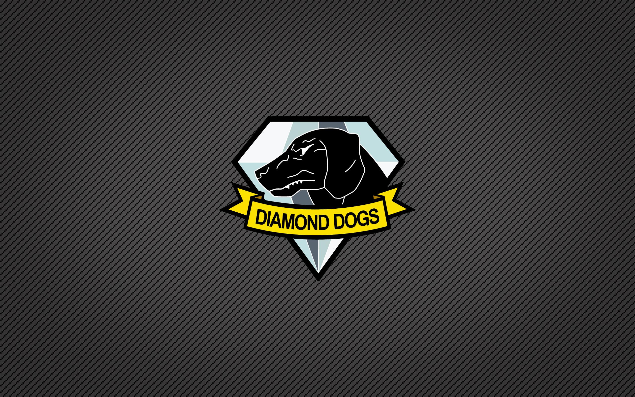 Video Game – Metal Gear Solid Video Game Minimalist Black Dog Diamond Logo  Metal Gear Solid