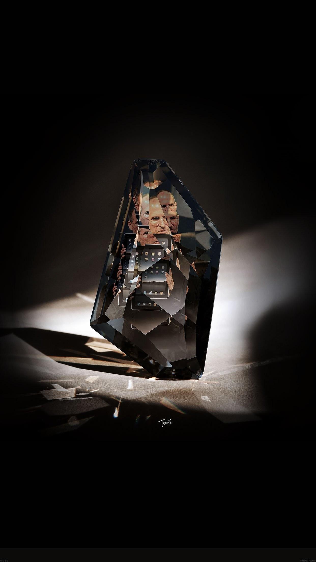 steve jobs diamond art apple ios8 iphone 7 wallpaper