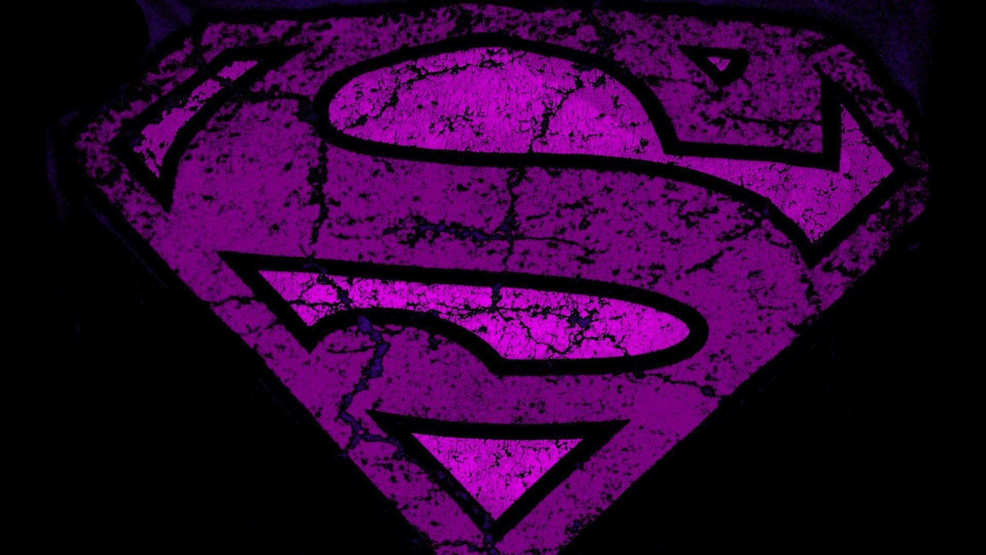 Purple superman logo Wallpaper