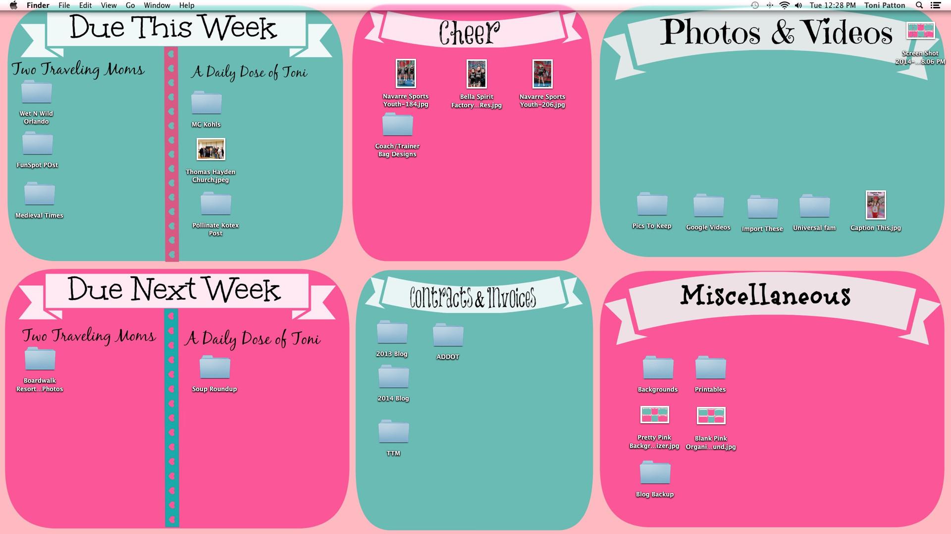 Desktop Organization Backgrounds wallpaper