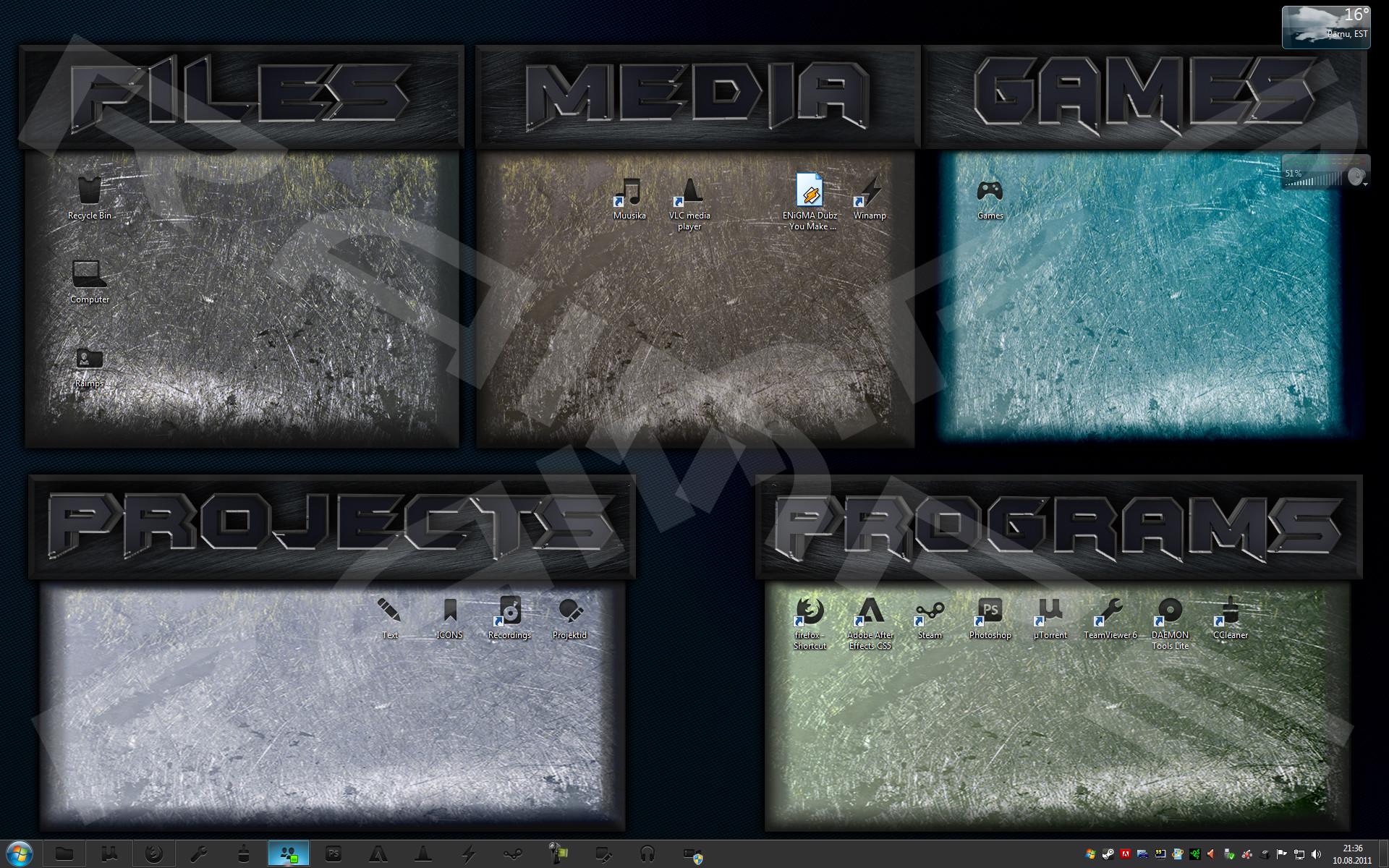 Organized Desktop Background by Raimpstage Organized Desktop Background by  Raimpstage