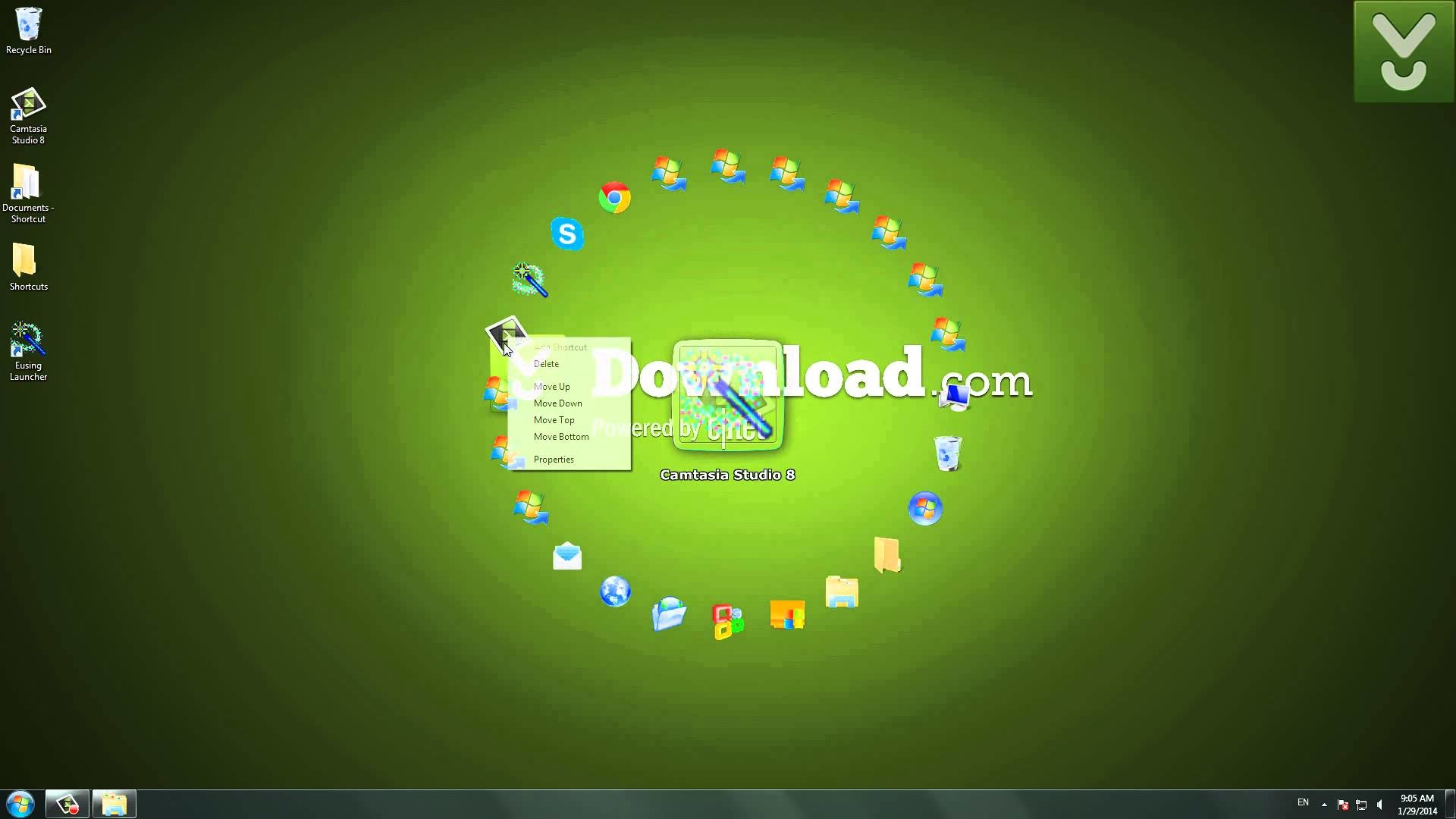 Eusing Launcher – Organize icons on your desktop in a creative way –  Download Video Previews – YouTube