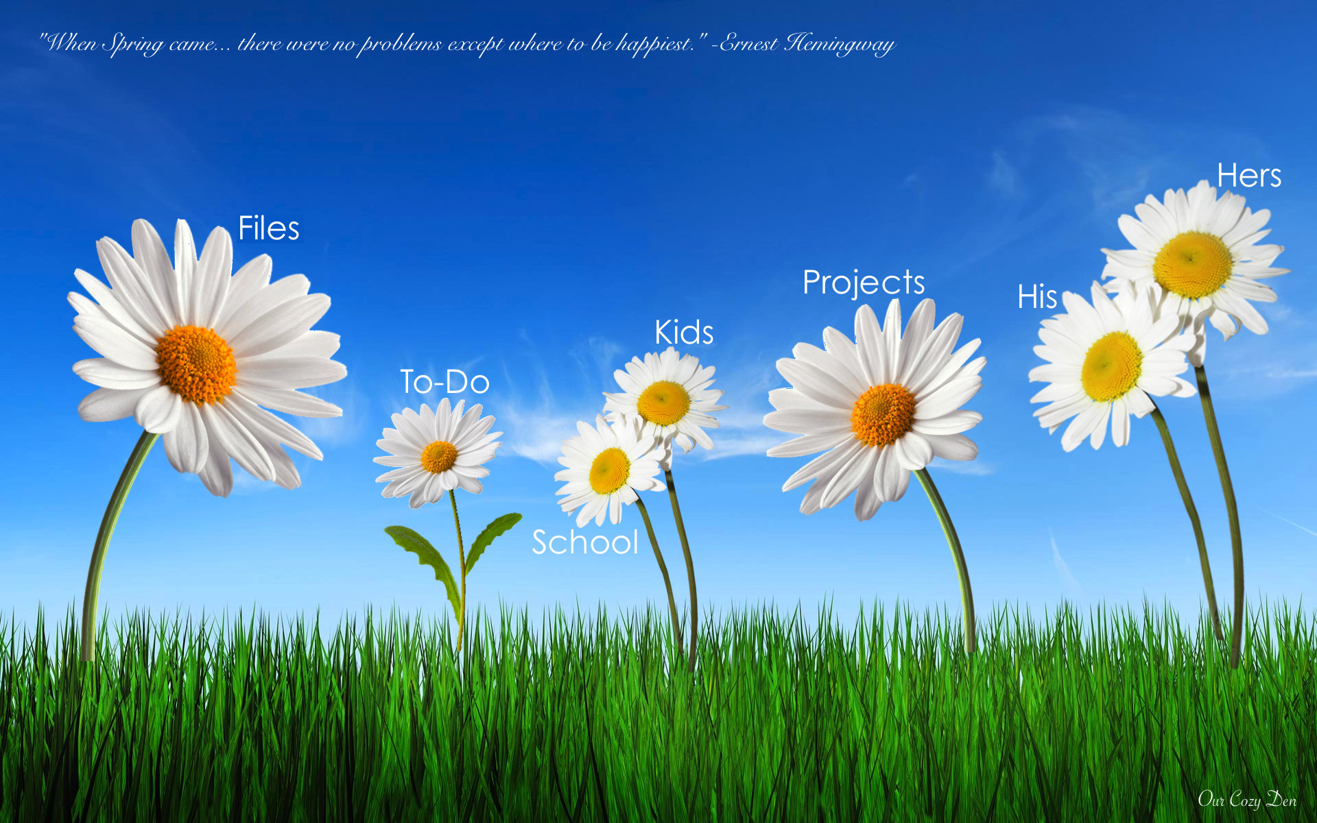 Click here to download the Spring Desktop Organizer for your own use!