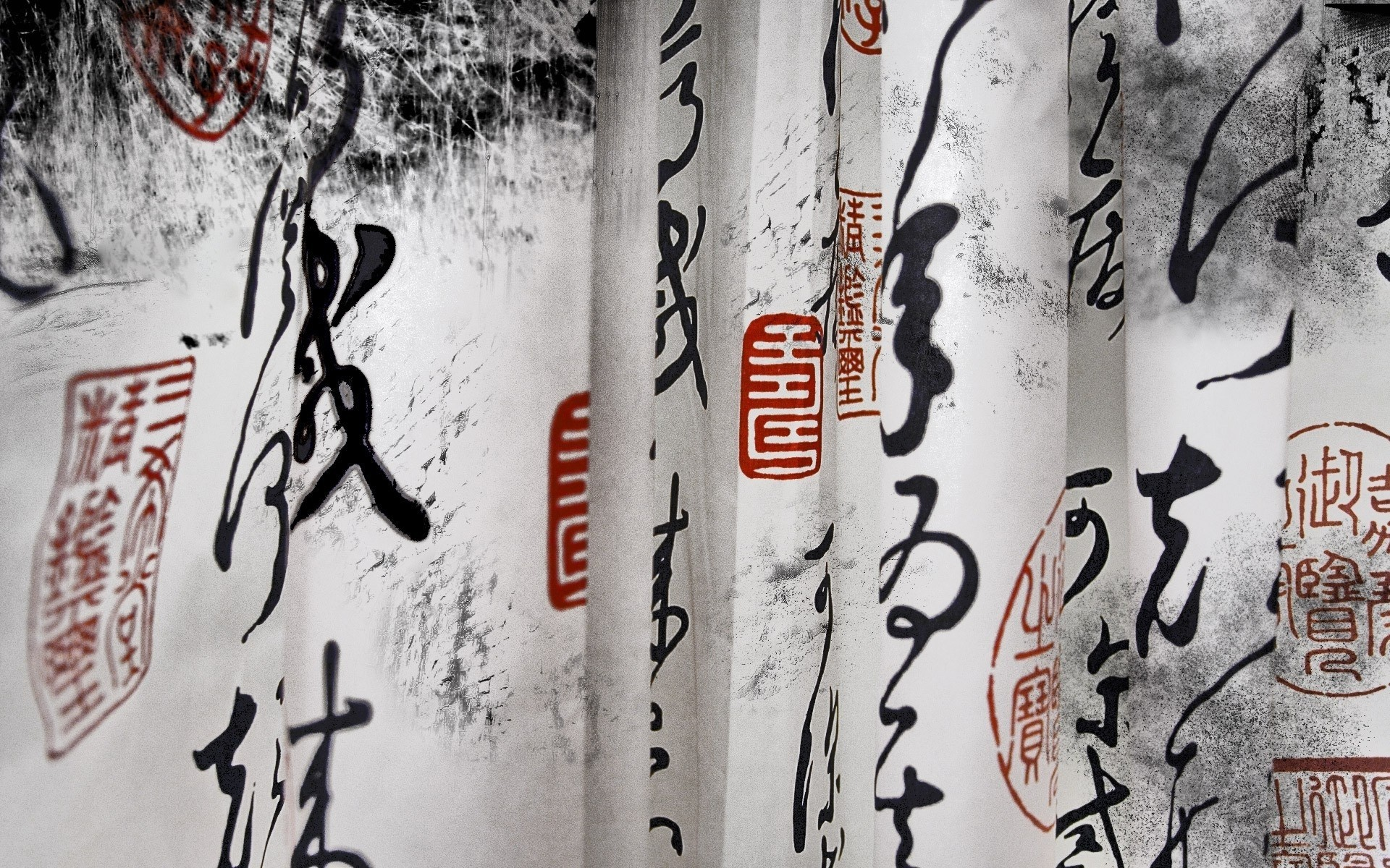 Chinese Scrolls Happiness mood emotion characters calligraphy asian  oriental paper wallpaper     27203   WallpaperUP