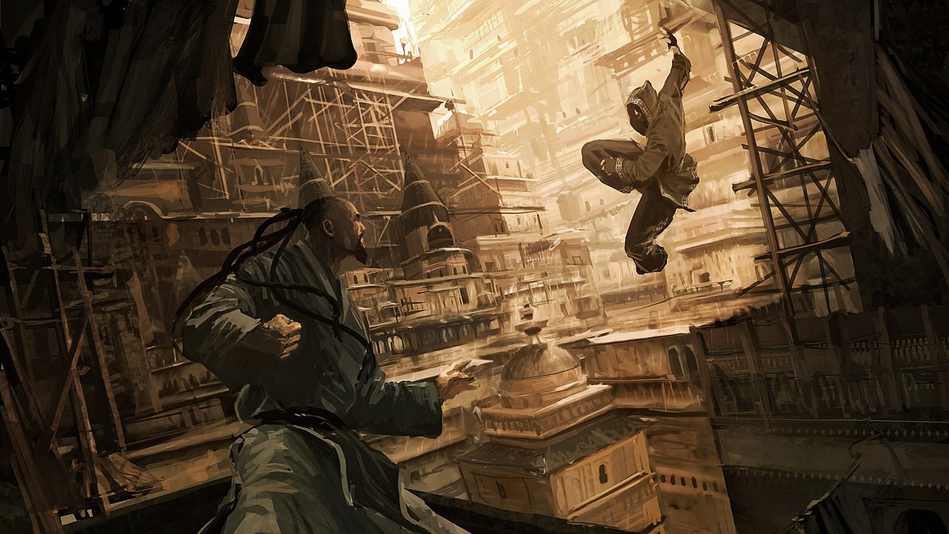 Fantasy – Warrior Fight Asian Assassin Wallpaper