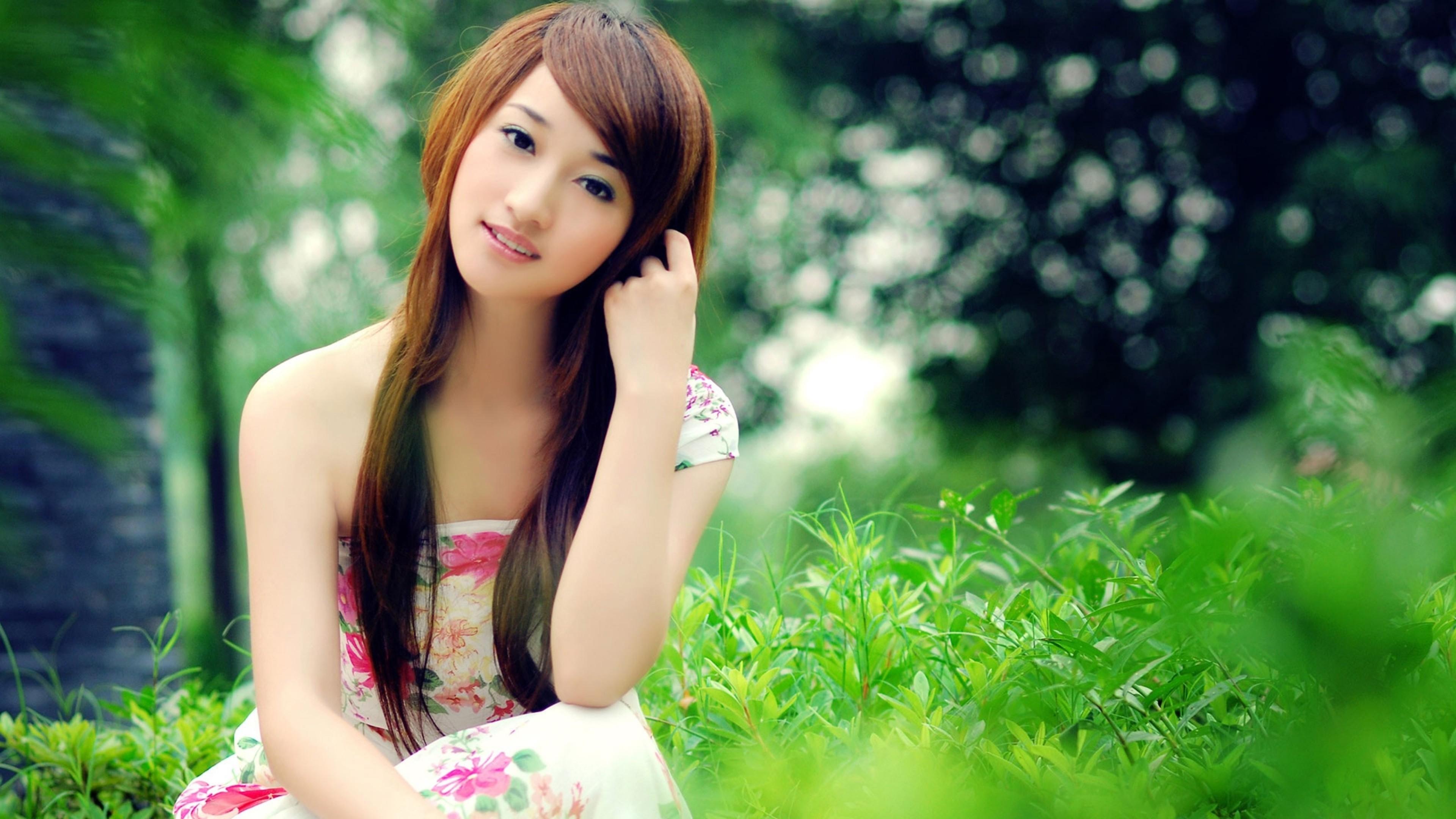 Wallpaper asian, girl, dress
