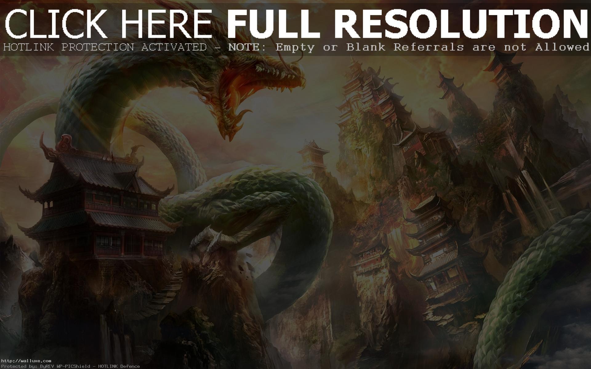 Asian Dragon Wallpaper