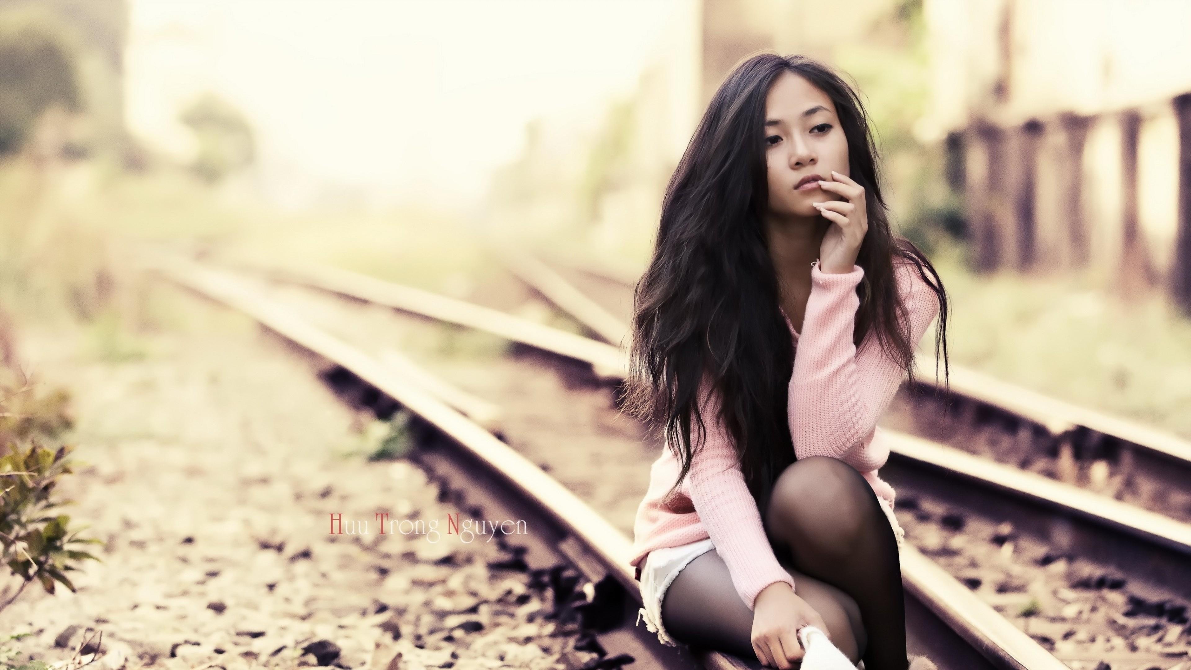 Wallpaper asian, railway, model, style