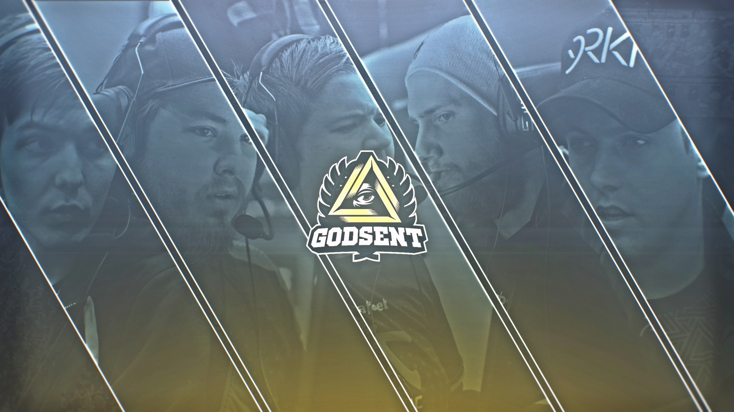 Wallpaper of the new GODSENT CSGO lineup which was subsequently used as a  Twitter Header by