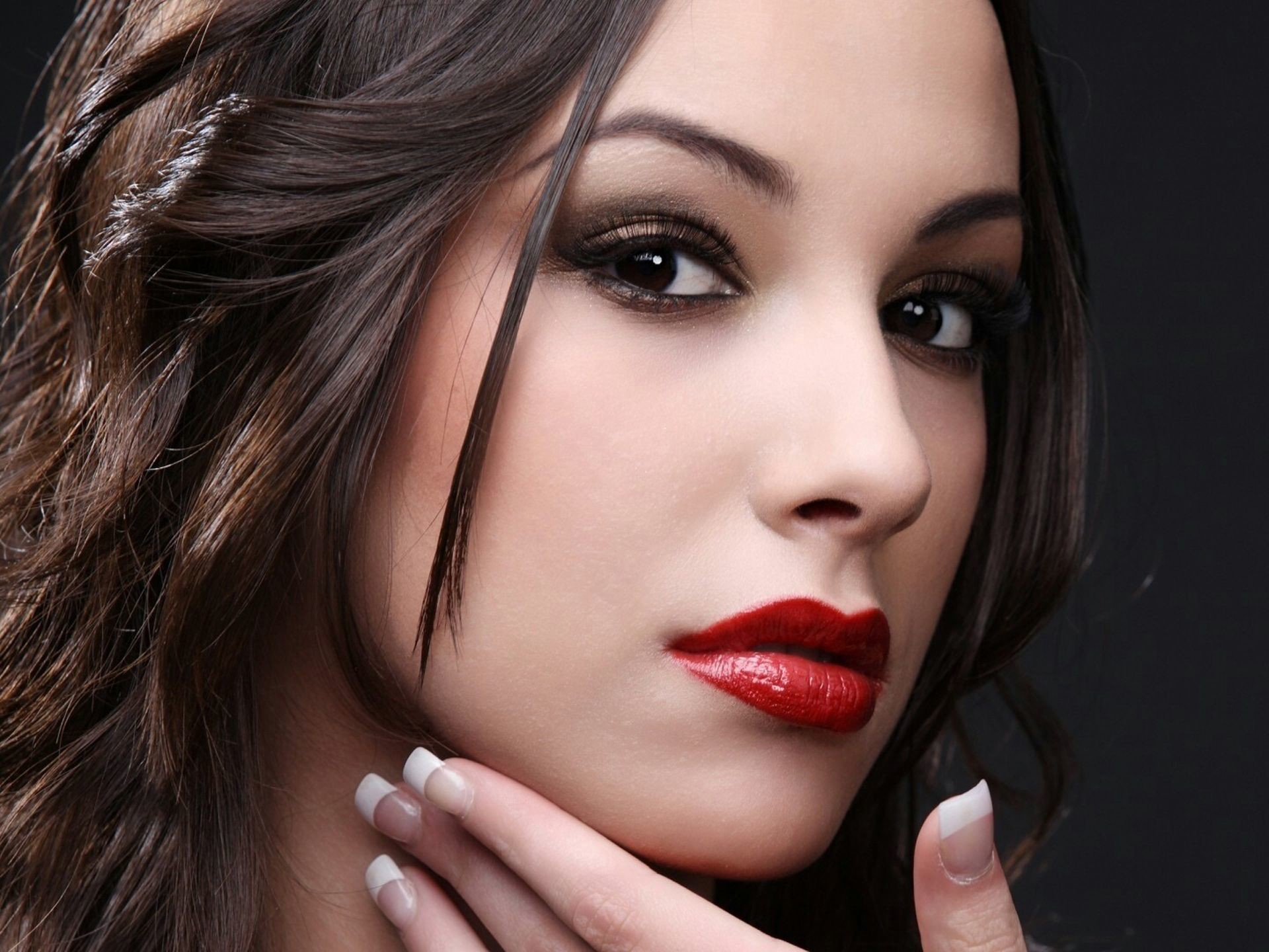 Beautiful girl with big red lips – professional photo. Cute girls and  models HD Wallpapers, Widescreen wallpapers