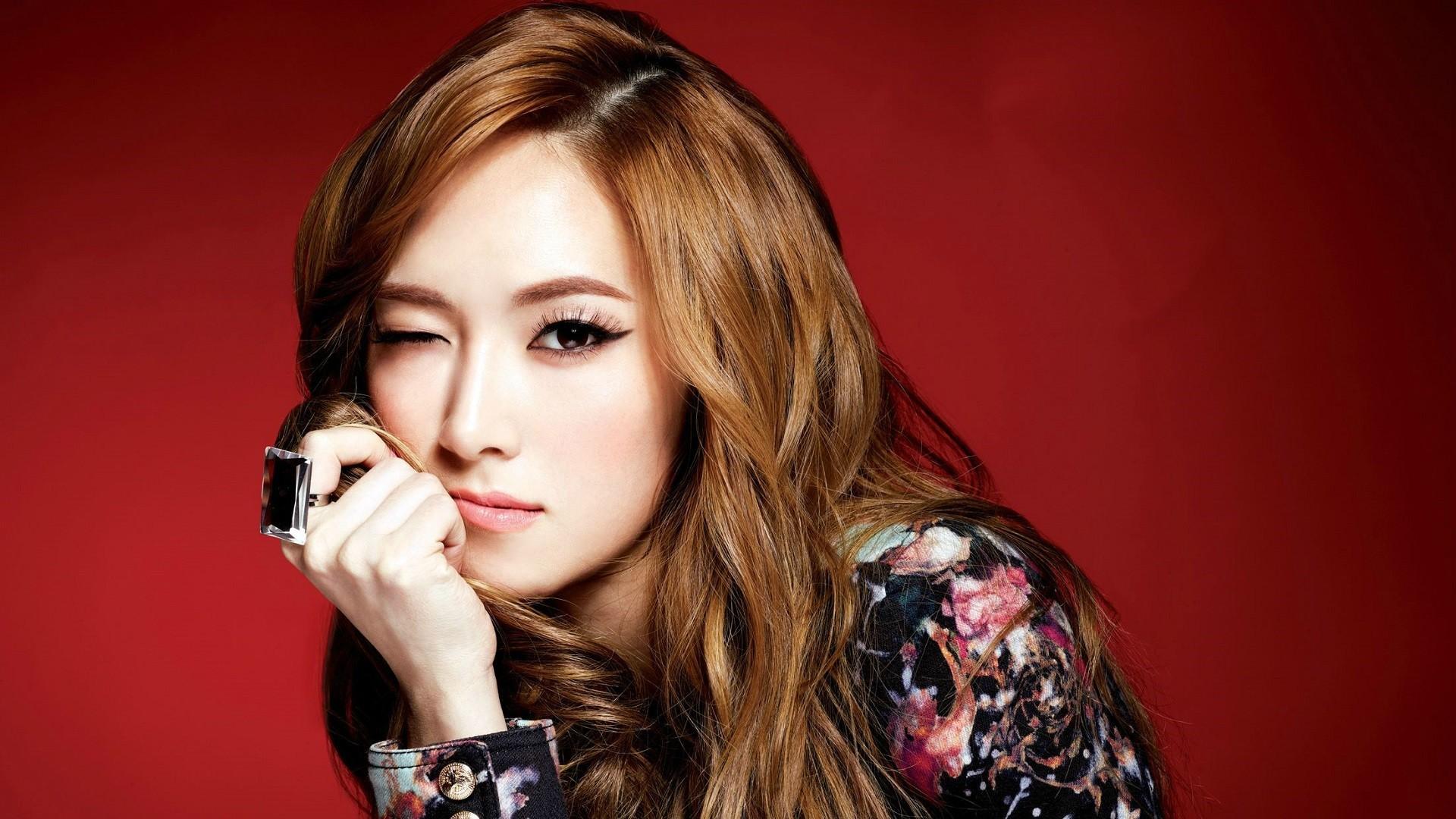 women Girls Generation SNSD Asians Jessica Jung wink faces – Wallpaper  (#2923651) /