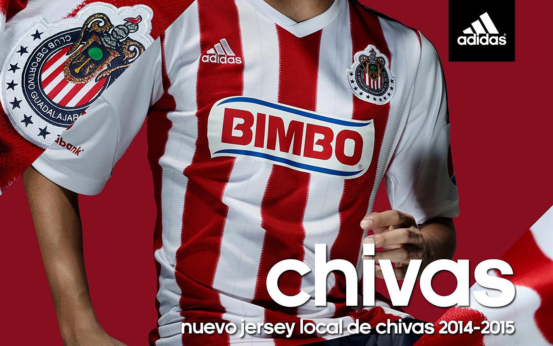 Chivas Guadalajara 2014-2015 Adidas Home Kit Jersey Wallpaper