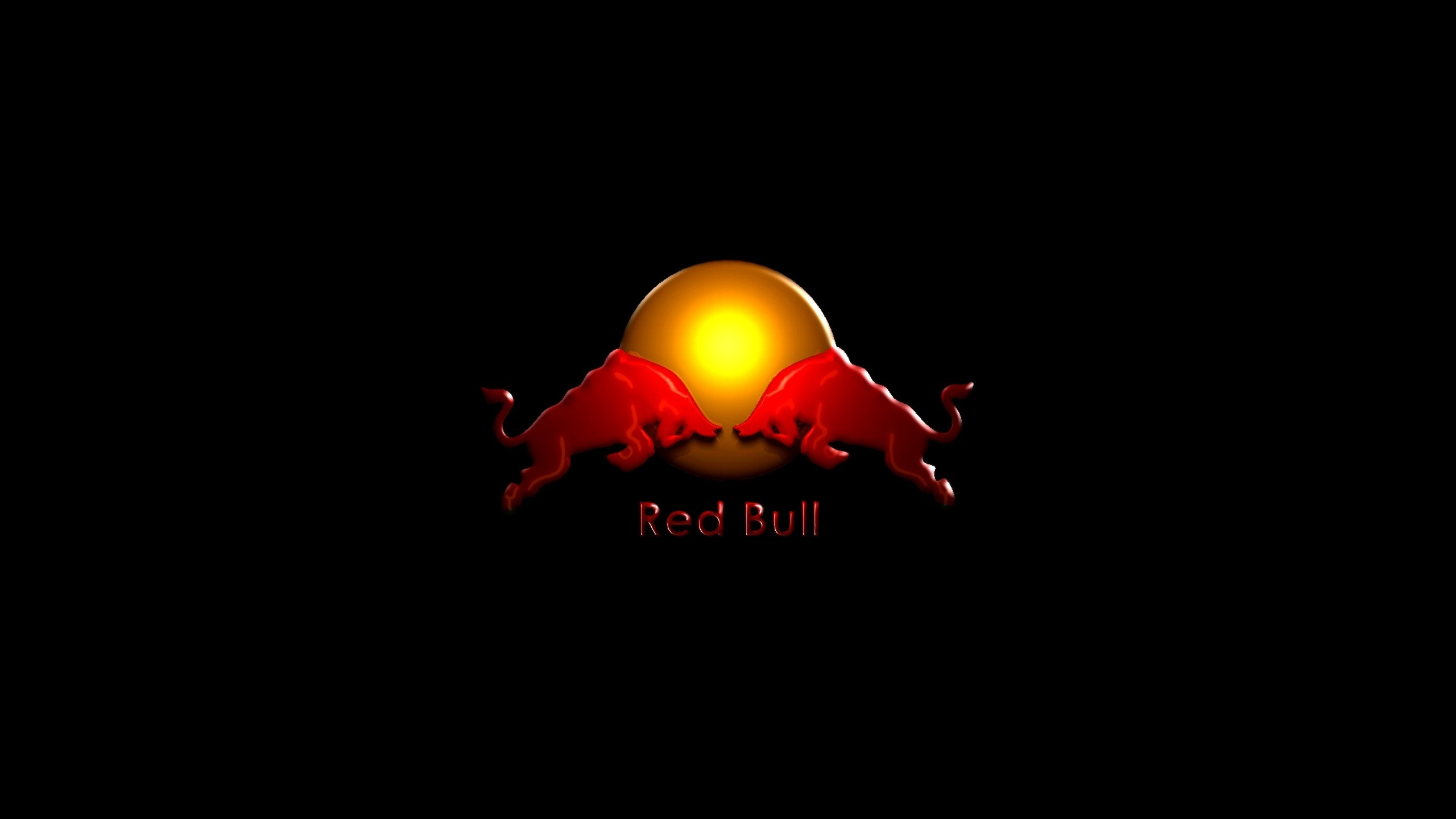 Preview wallpaper red bull, drink, energy, logo 2560×1440