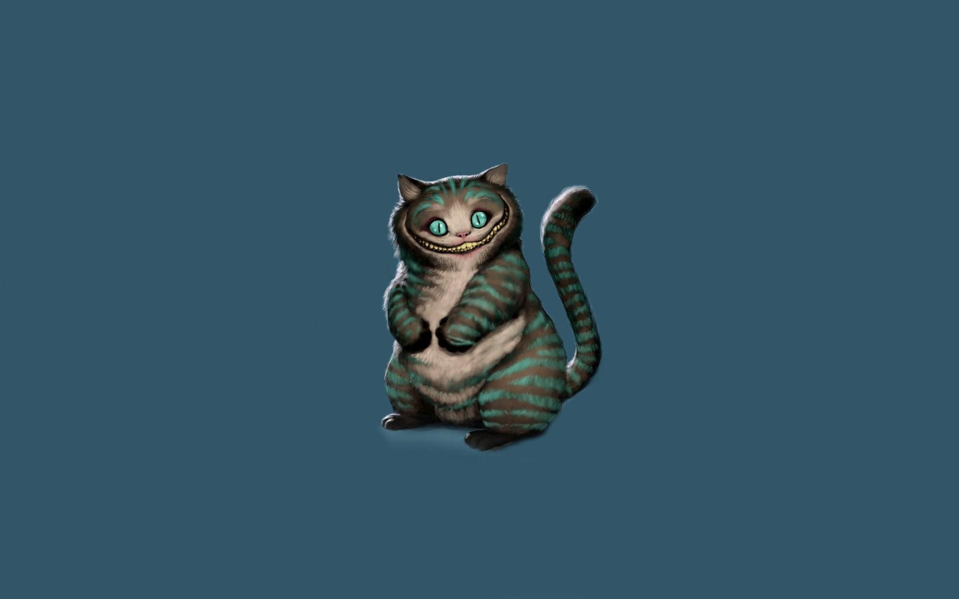 cheshire cat cheshire cat sitting alice in wonderland alice's adventures in  wonderland art minimalism blue background