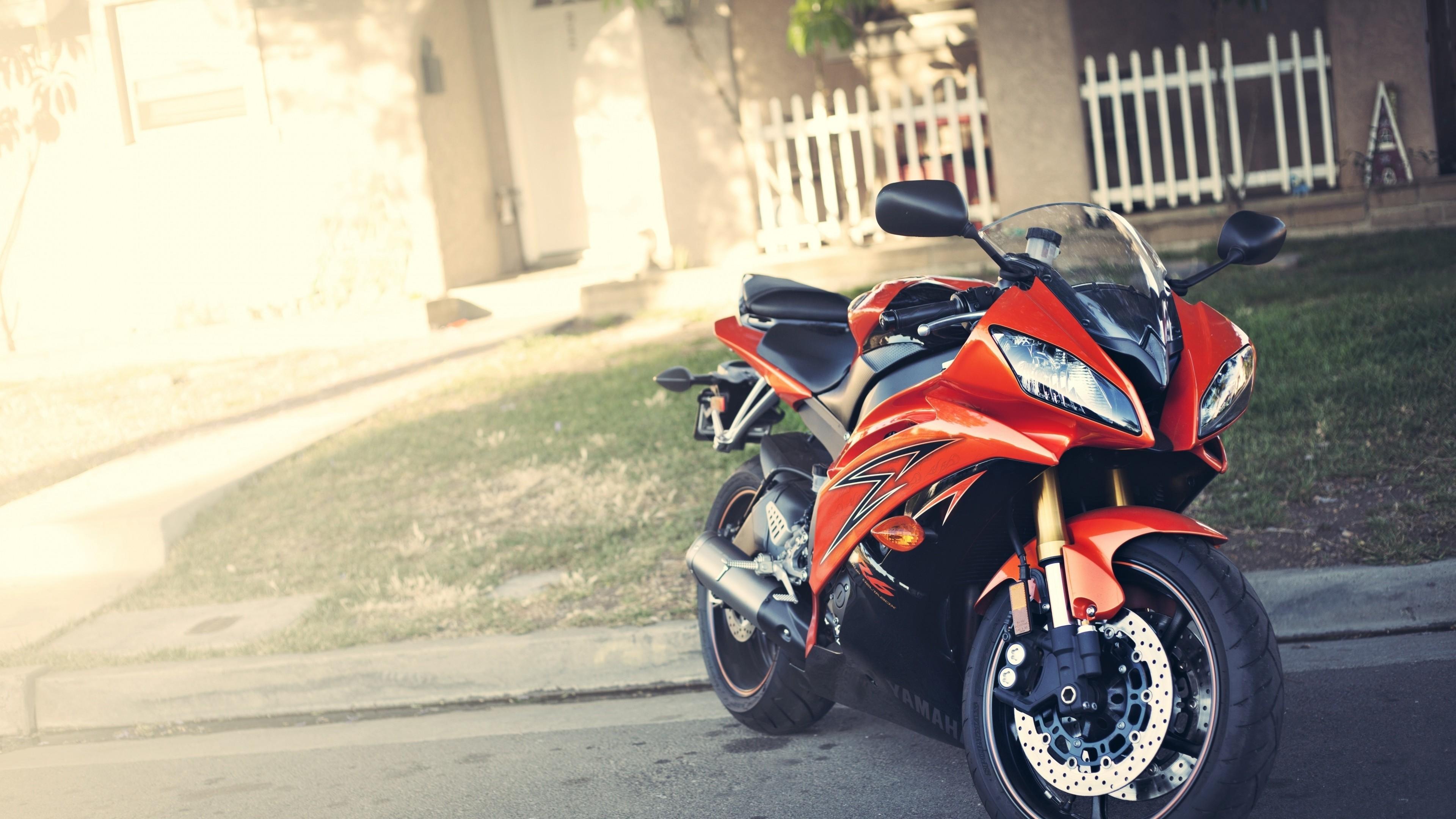 Wallpaper yamaha, yzf-r6, red, motorcycle