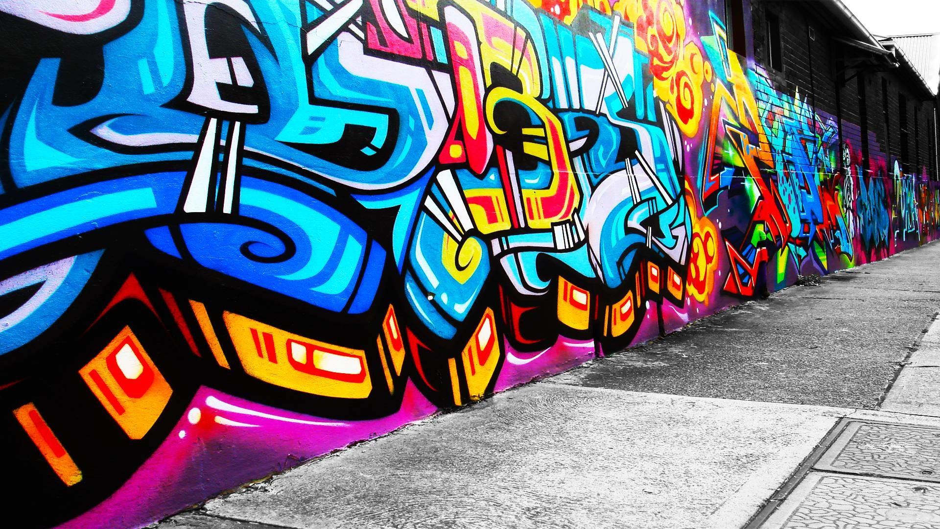 graffiti bright colors best hd wallpaper