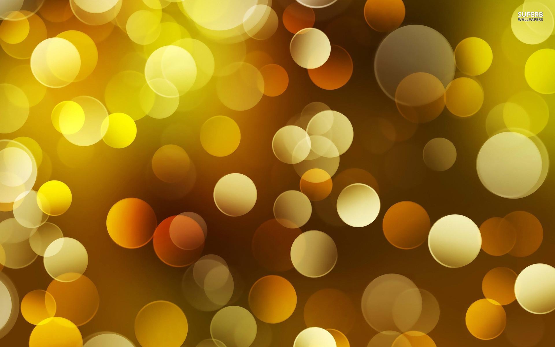 832 Cool Yellow Bokeh Wallpaper