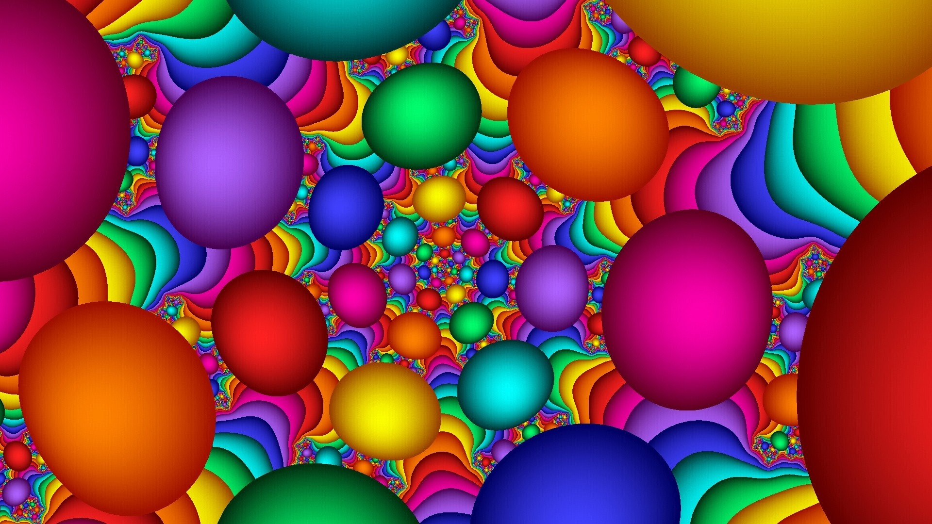Wallpaper balloons, colorful, background, bright