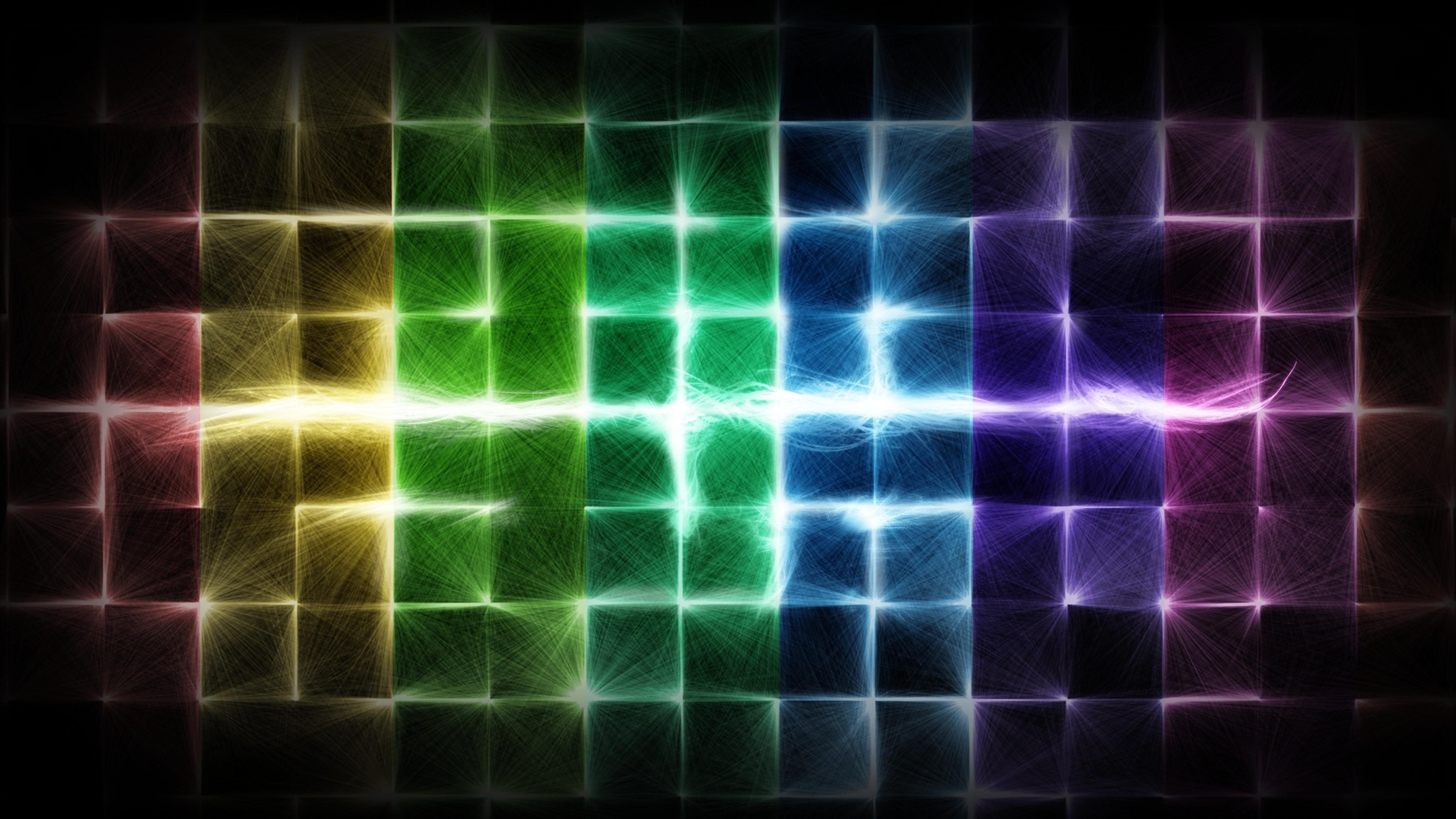 Wallpaper colorful, cells, light, shine, bright