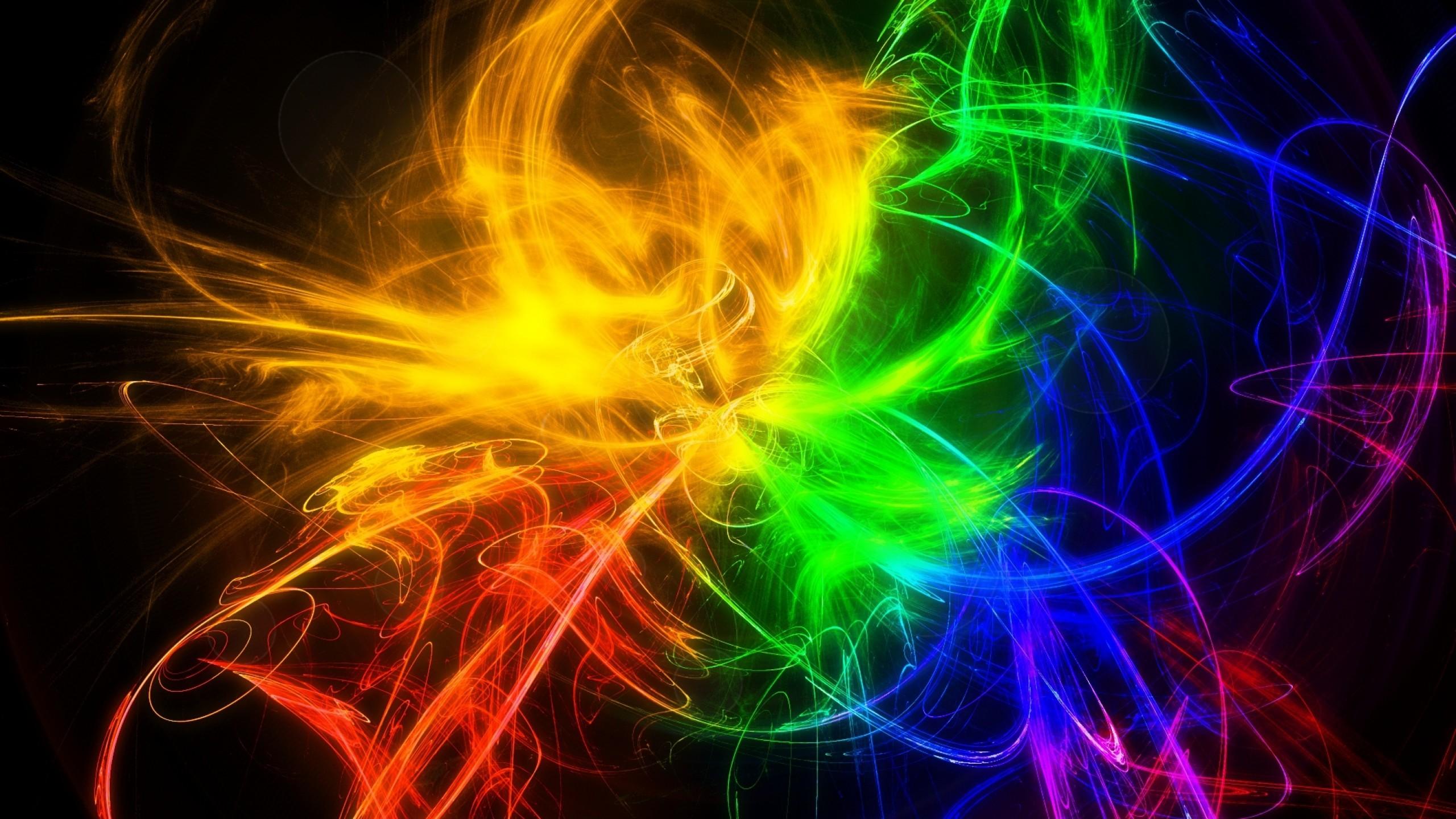 Wallpaper smoke, multi-colored, lines, patterns, bright