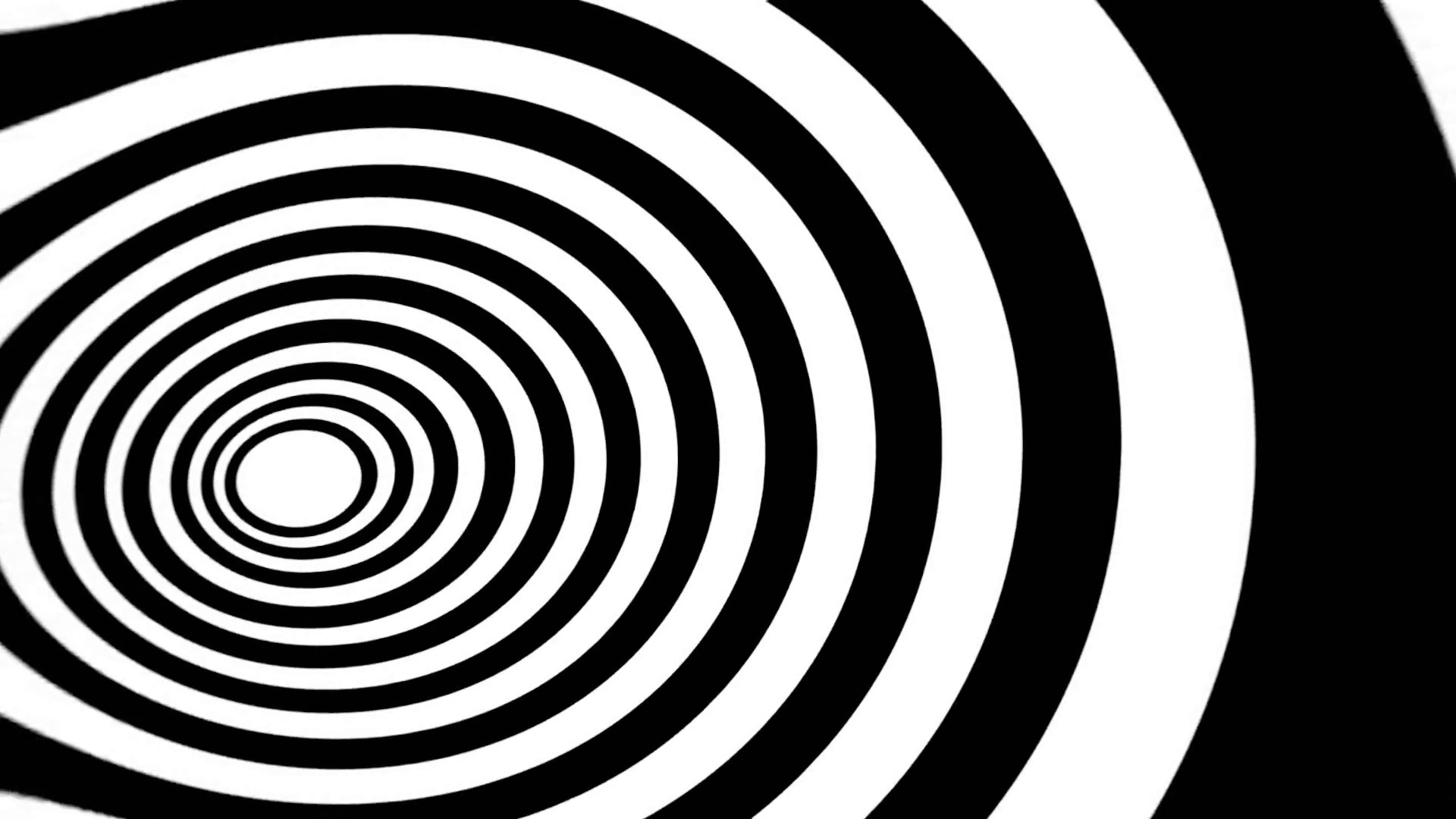 Hypnotic Spiral Eye BW. An animated spiral (eye shape), slow rotation.  Black and white. Seamless loop. Stock Video Footage – VideoBlocks