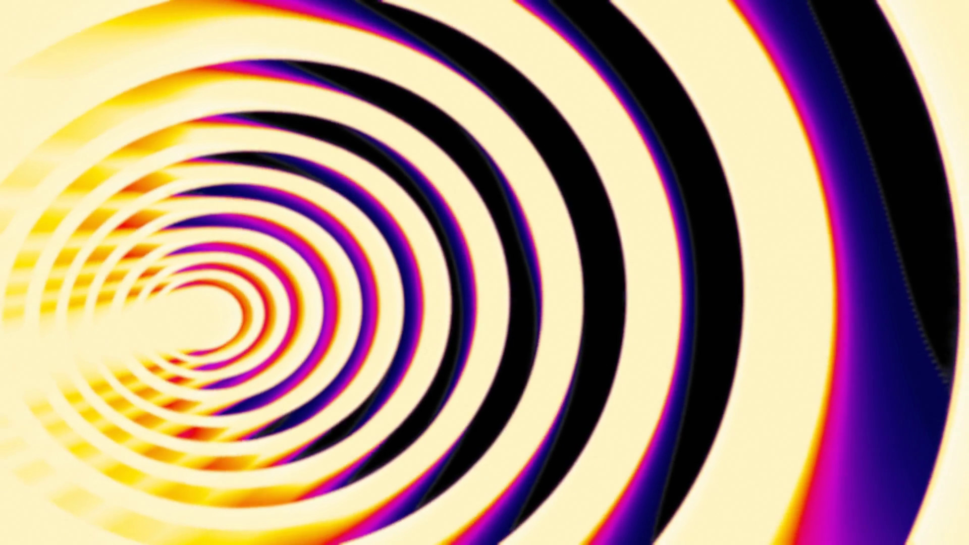 Hypnotic Spiral Eye Thermal. An animated spiral (eye shape), slow rotation.  Hot colors. Seamless loop. Motion Background – VideoBlocks