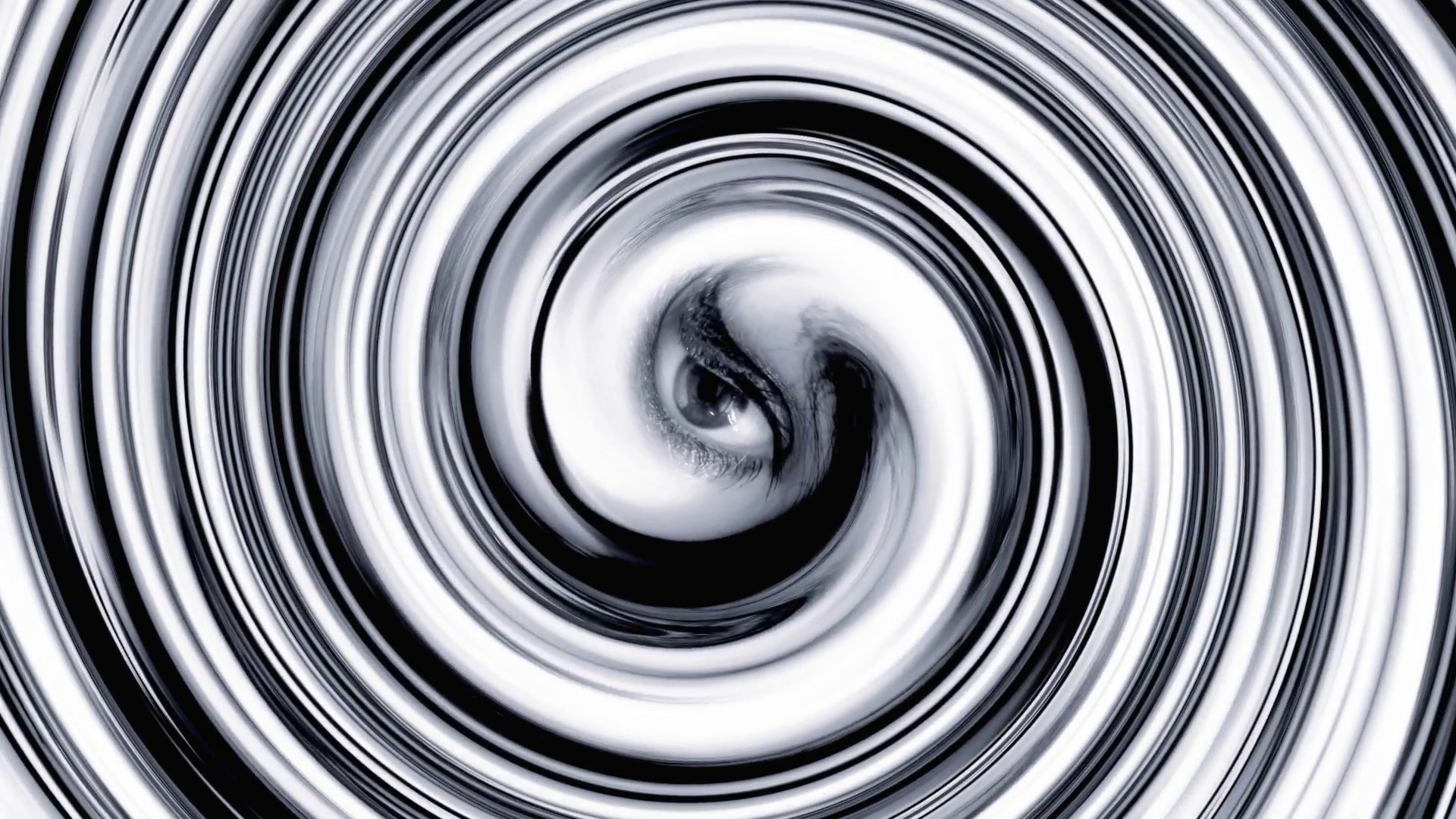 Eye hypnosis vortex. The whirling hypnotic eye of a woman at the center of  a spiral. Bizarre noir surrealist shot. Stock Video Footage – VideoBlocks