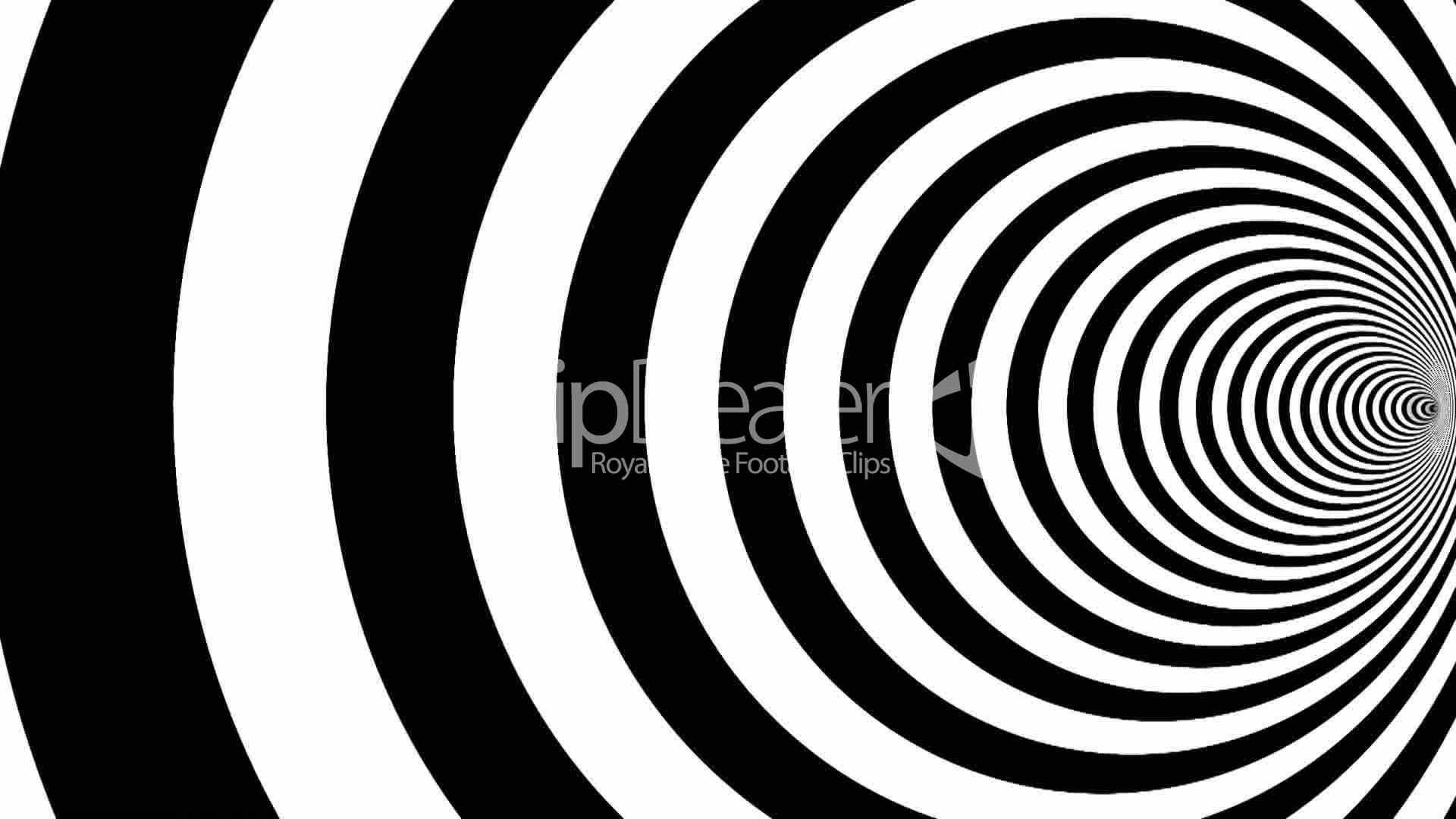 Optical illusion target tunnel retro spiral hypnosis .